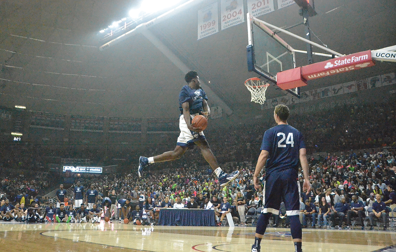 Getting rid of the scrimmage and replacing it with more skill contests seems like the best way to keep things interesting on First Night while also mitigating some of the looming injury risks. (Bailey Wright/The Daily Campus)