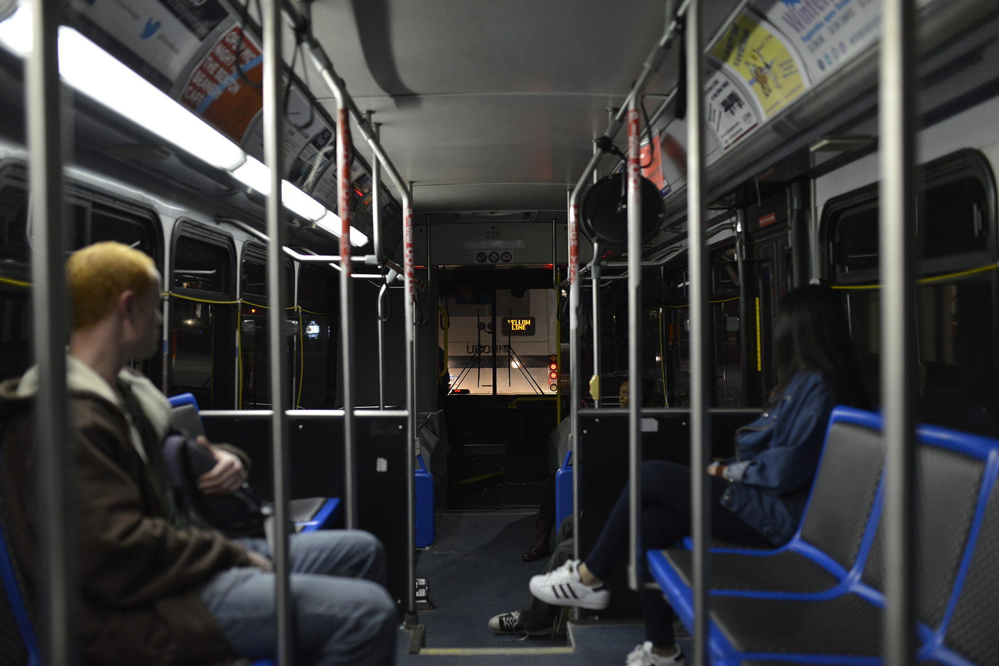 """The University of Connecticut's Transportation Services removed the radios from all 19 of its passenger buses at the beginning of October in order to """"reduce potential distractions in the bus,"""" UConn spokesperson Stephanie Reitz said. (Jason Jiang/The Daily Campus)"""