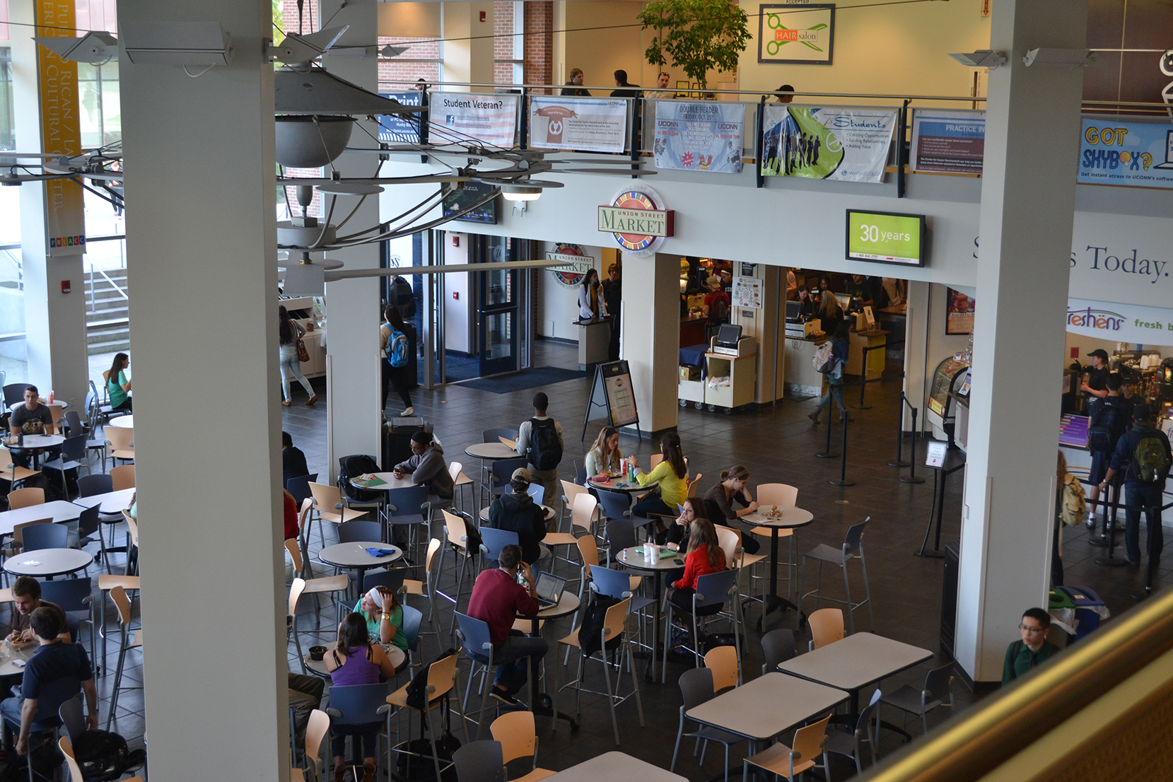 In this file photo, the UConn Student Union and the Union Street Market entrance are pictured. (File Photo/The Daily Campus)