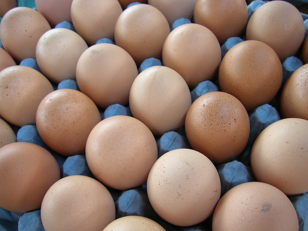 The decline in egg production has made for high prices. USDA data says that in 2013 and 2014, farmers received an average of $0.86 per dozen eggs. This past August, they received $2.38 per dozen because of the low supply. (Vlc Lic/Flickr)