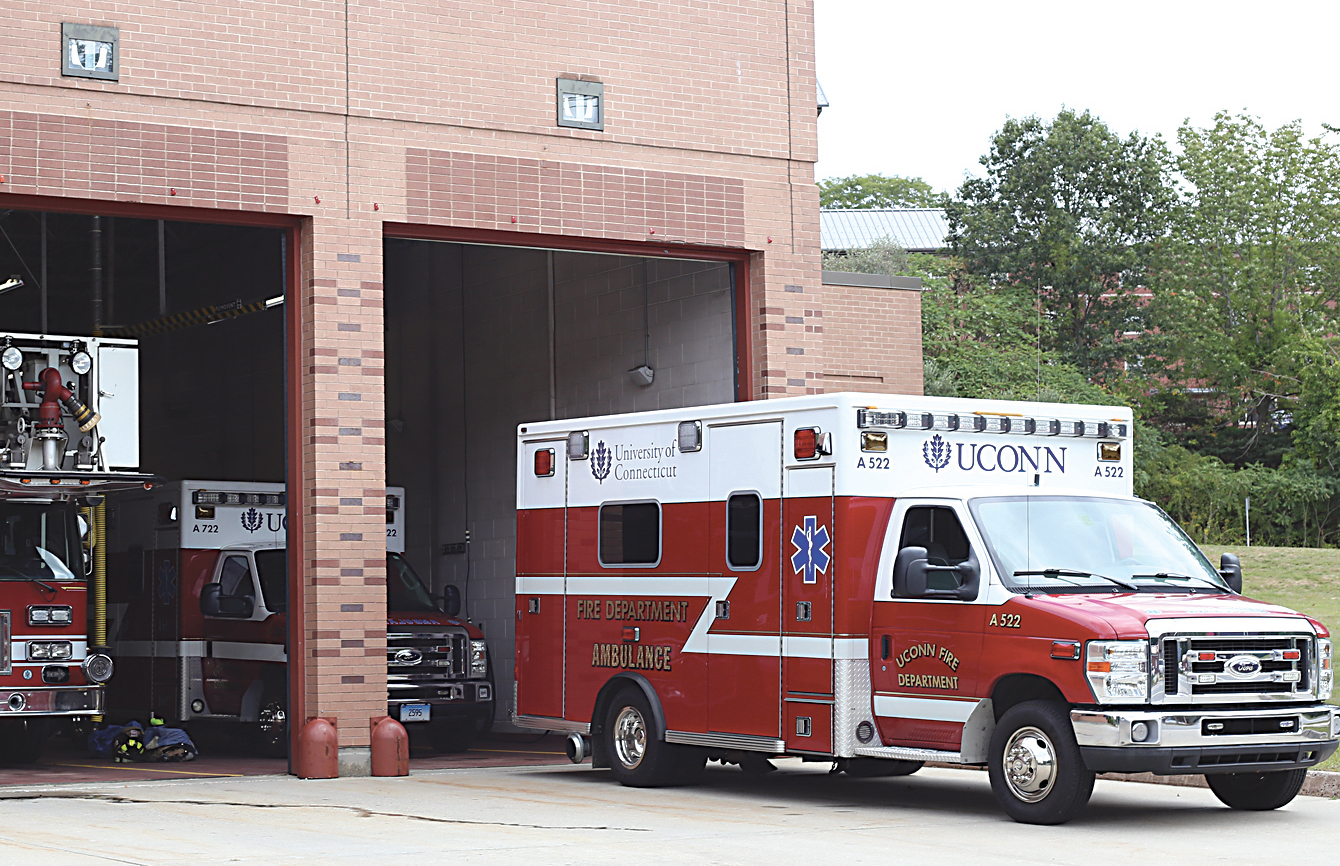 Deputy chief Gregory Priest said the fire department had a significantly increased call volume on Friday night with 20 calls between 5 a.m. and 7 a.m. He said the majority of those calls were emergency medical services calls. (Jackson Haigis/The Daily Campus)