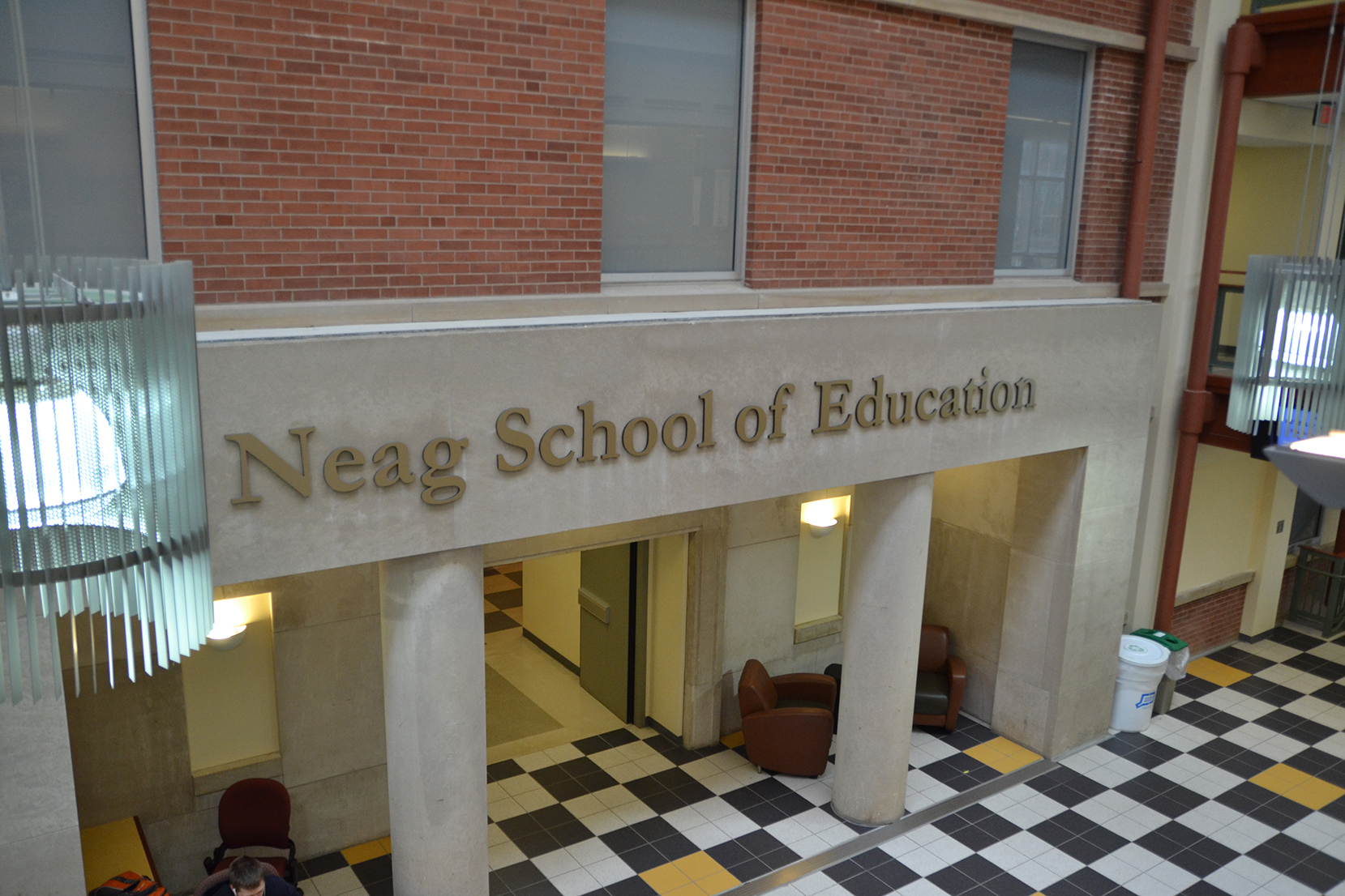 In this photo, the lobby of UConn's Neag School of Education is pictured. The school was selected as a sponsor for this year's Library of Congress Letters About Literature (LAL) nationwide contest for elementary, middle and high school students. (Amar Batra/The Daily Campus)