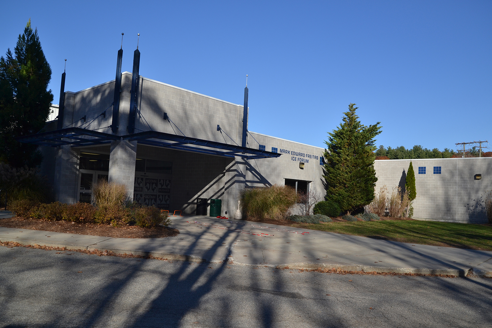 The University of Connecticut is considering a two-pronged approach of expanding the team's downtown Hartford venue while doubling the capacity of Freitas Ice Forum, a rink on campus, to meet Hockey East standards, said Director of Athletics Warde Manuel. (Amar Batra/The Daily Campus)