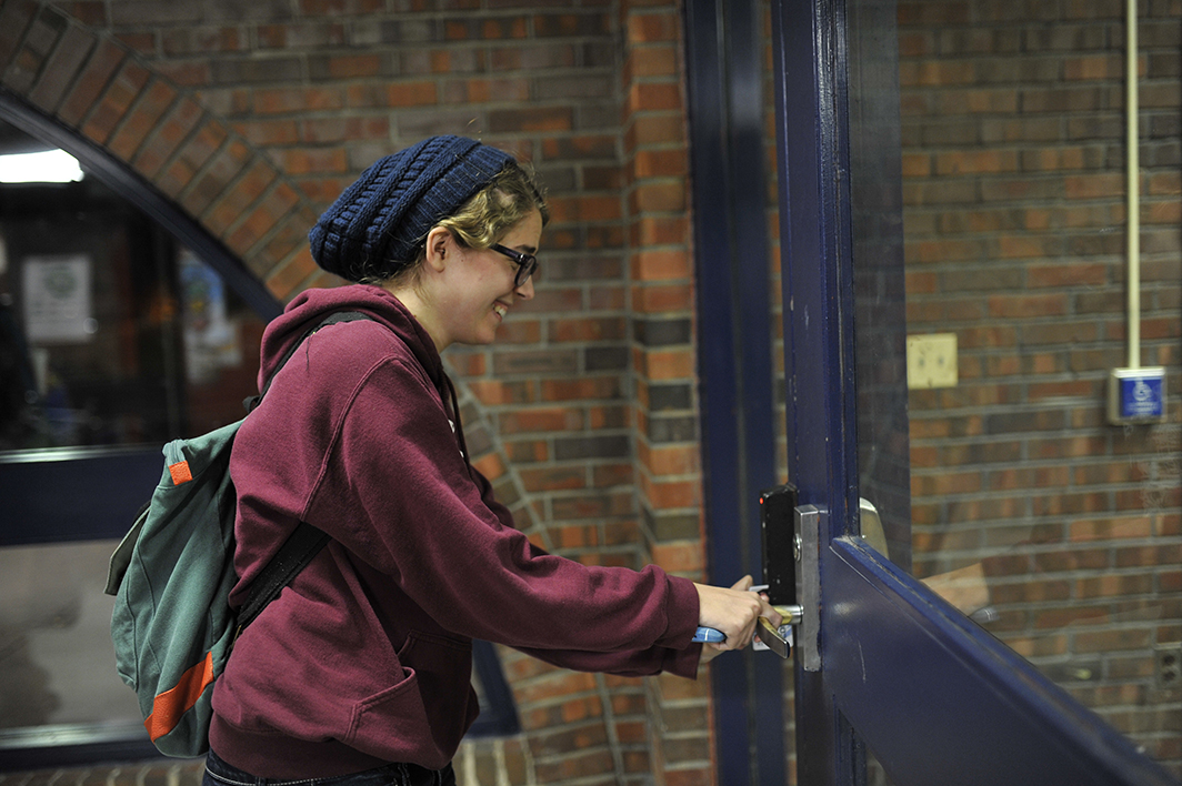 A  Daily Campus  investigation found that students were able to swipe into residence halls from spring 2015. (Jason Jiang/Daily Campus)