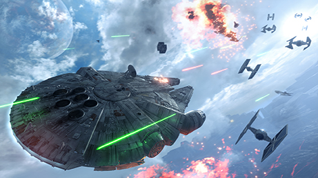 "This photo provided by Electronic Arts shows a scene from the video game, ""Star Wars: Battlefront."" (Electronic Arts via AP)"