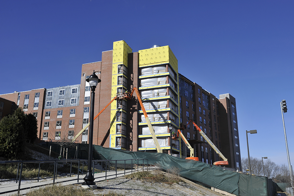 A new living and learning community for African American males in the NextGen residence halls will open in the fall of 2016. The learning community, called ScHOLA2RS, aims to increase graduation rates and leadership within UConn's African American male community.(Jason Jiang/The Daily Campus)