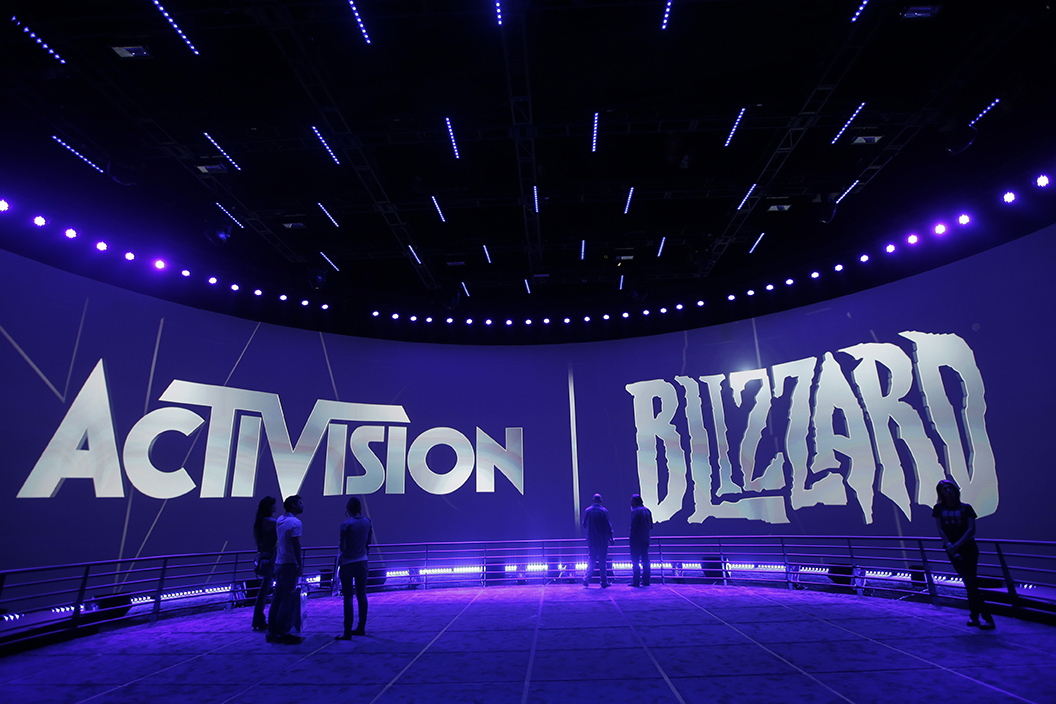 """Major League Gaming, a pioneer in global eSports, was recently purchased by Activision, marking a big step forward in the industry of eSports.This June 13, 2013 file photo shows Activision Blizzard Inc.,which published """"World of Warcraft,"""" """"Starcraft 2"""" and """"Diablo 3,""""during the Electronic Entertainment Expo in Los Angeles.(AP)"""