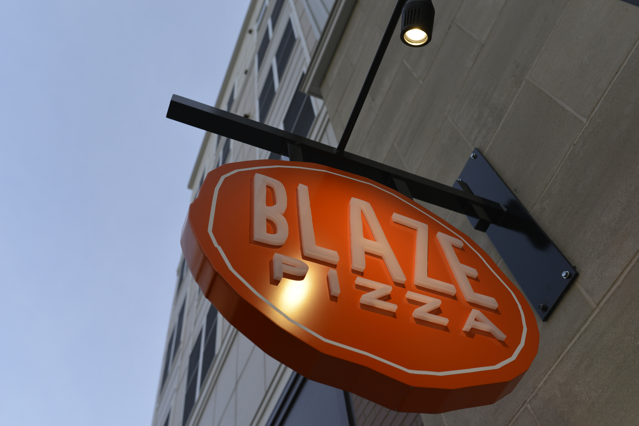 Blaze Fast Fire'd Pizza is set to open in Storrs Center on Jan. 28 and is offering free pizza to its social media followers in celebration. (Jason Jiang/The Daily Campus)