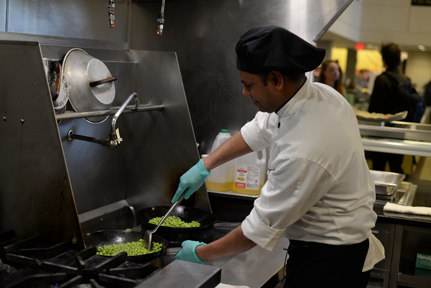 "One of the competitors, Rajendra Simkhada (above), was nominated for and won UConn Dining Services' Employee of the Year for 2015. He was noted for his ""strength of character,"" dedication and punctuality and his upbeat personality even through personal struggles, according to his nomination letter submitted by McMahon Manager Joseph Ferris. (Amar Batra/Daily Campus)"