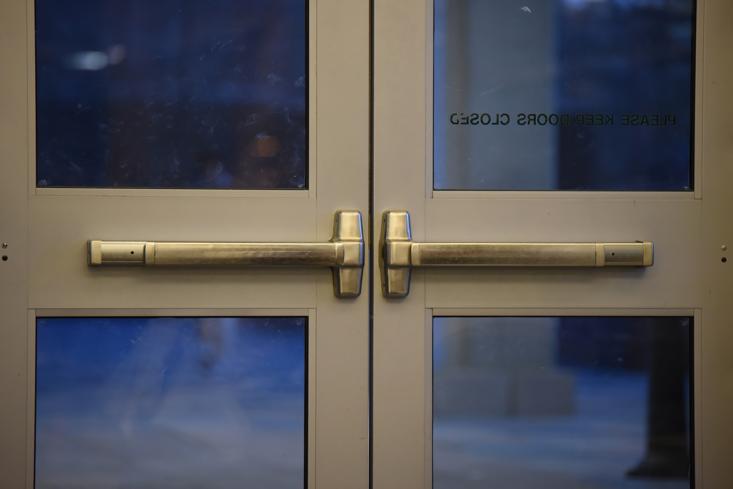 UConn's Division of Public Safety is installing locks on classroom doors that lock from the inside and working towards opening a security operation center.(Zhelun Lang/Daily Campus)