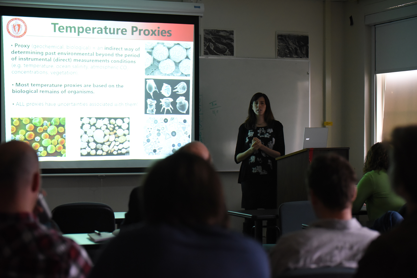 "Dr. Castaneda, the assistant professor of geosciences at the University of Massachusetts, is giving a talk entitled ""Vegetation and climate change in southern East Africa During the past 800,000 years."" (Zhelun Lang/The Daily Campus)"