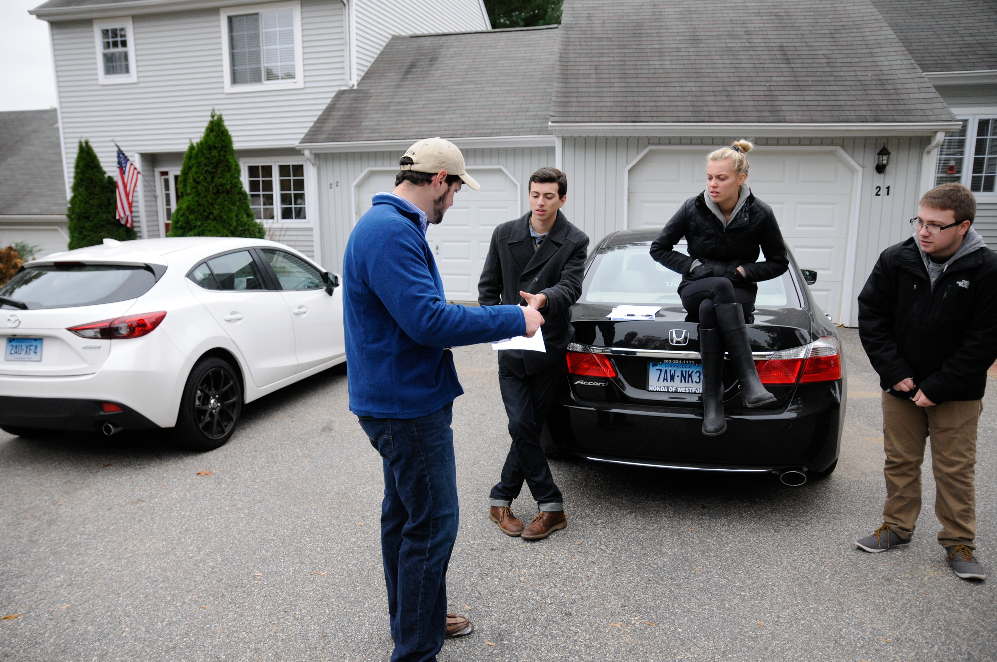 Members of the UConn College Republicans help Mark Sargent with his campaign for a Mansfield Town Council seat in fall 2015.The UConn College Republicans refuse to back Donald Trump for president and will instead focus on getting local politicians elected. (Amar Batra/The Daily Campus)