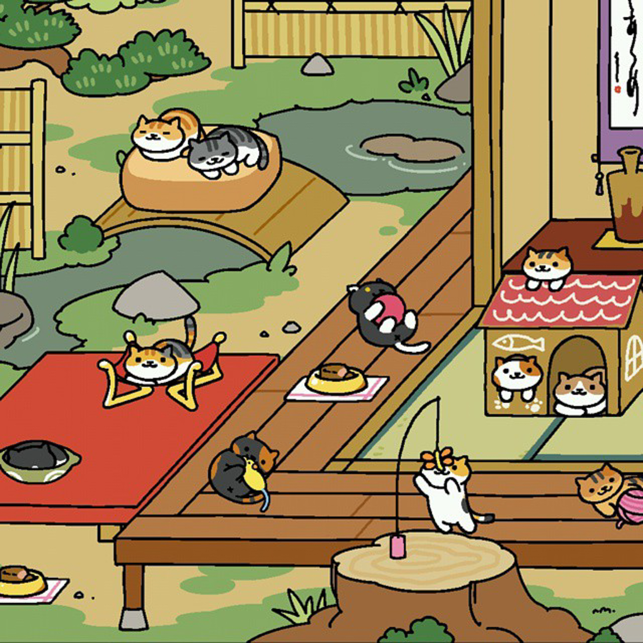 """Neko Atsume, which means """"kitty collector"""" in Japanese, is all the fun of owning cats without any of the actual work. (Jason Pettis/Flickr)"""