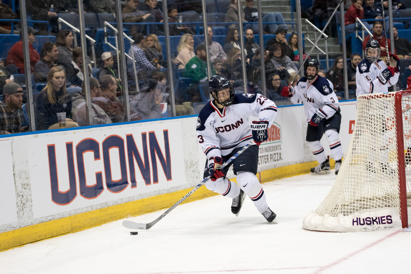 Men's Hockey lost to Northeastern 5-2 on Friday evening's game at the XL Center, 2/19/16. (Tyler Benton/The Daily Campus)