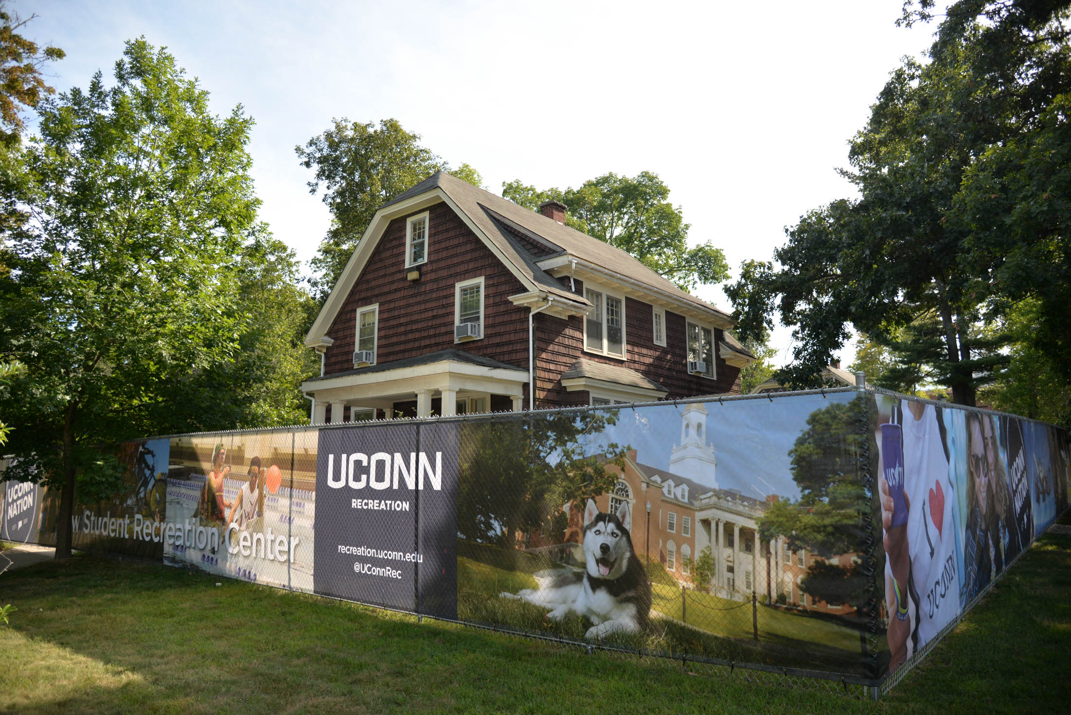 "The ""brown houses,"" formally known as Faculty Row have been cleared for demolition according to the university. The decision has faced serious push back from local historical societies. (Amar Batra/The Daily Campus)"