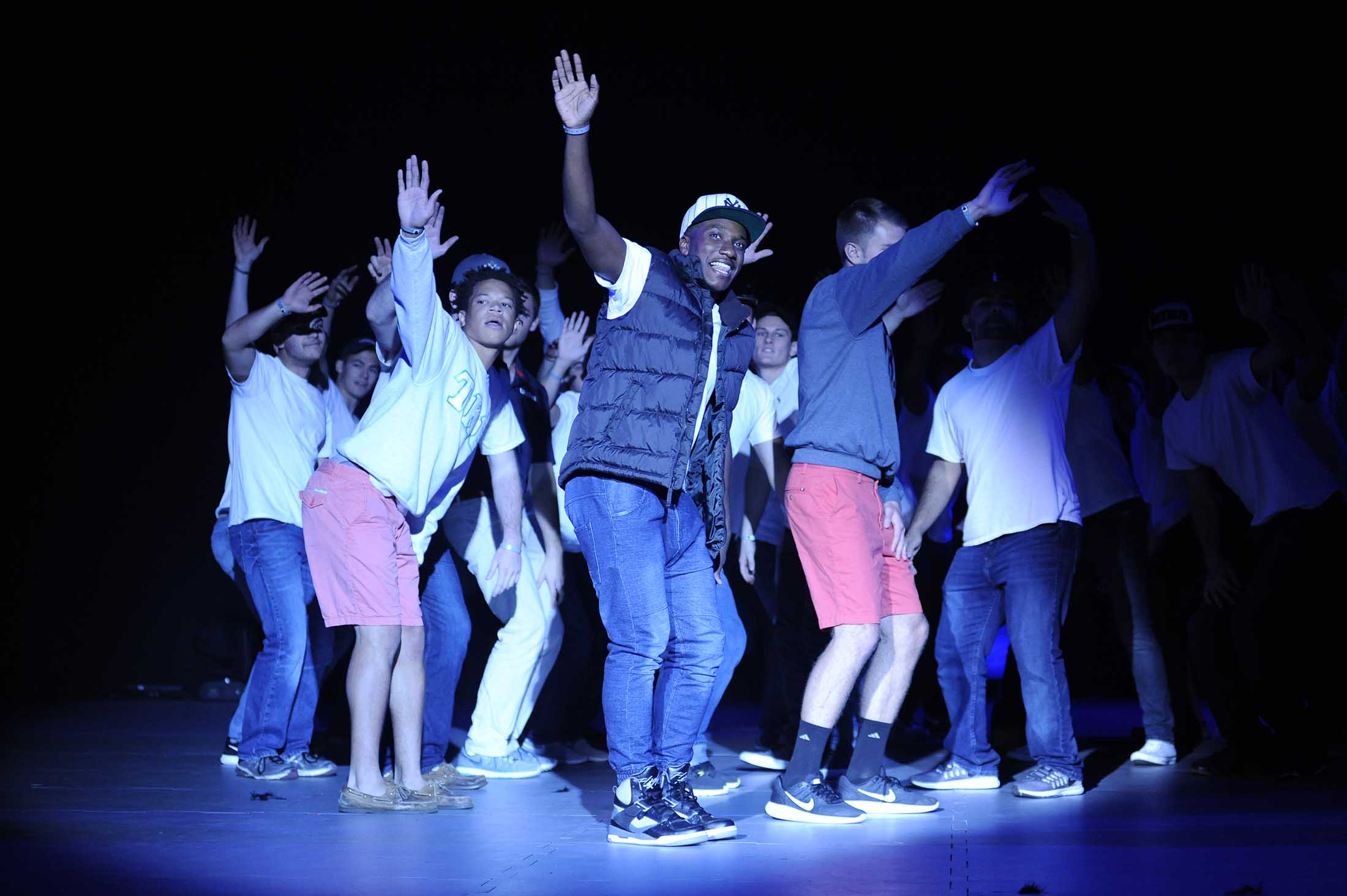 A full crowd attended Gampel Pavilion Thursday night at the annual Homecoming Lip Sync competition.(Jason Jiang/The Daily Campus)