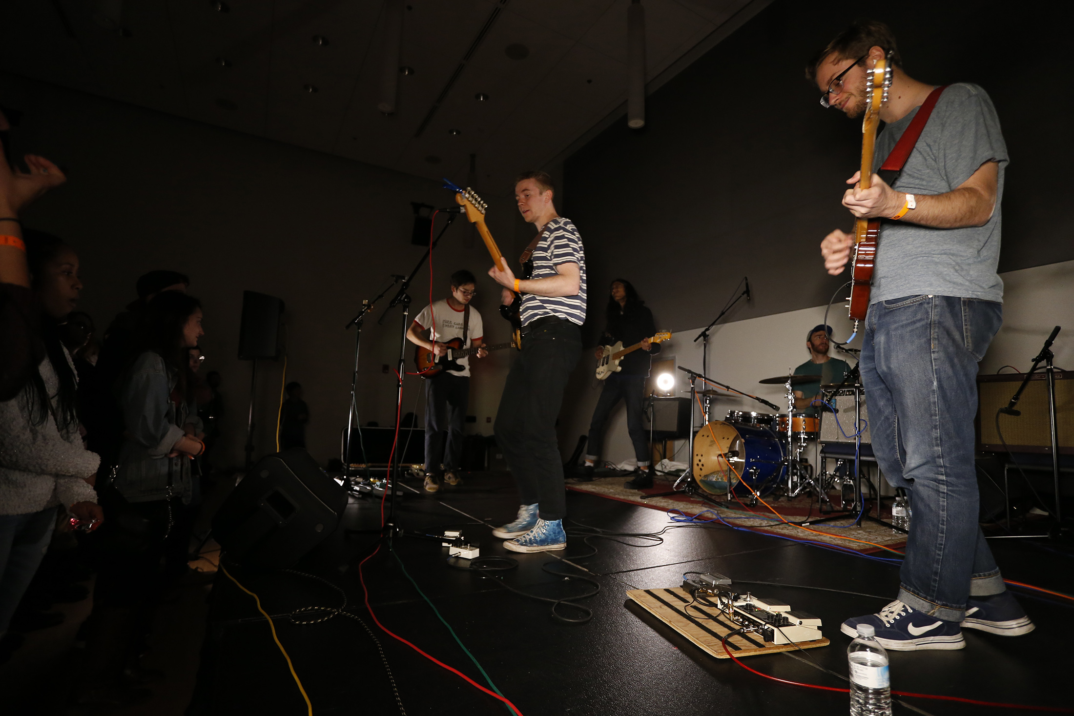 WHUS Radio hosts Mischief After Dark, a concert with many bands including Pine Grove to play in the SU Ballroom. (Tyler Benton/The Daily Campus)