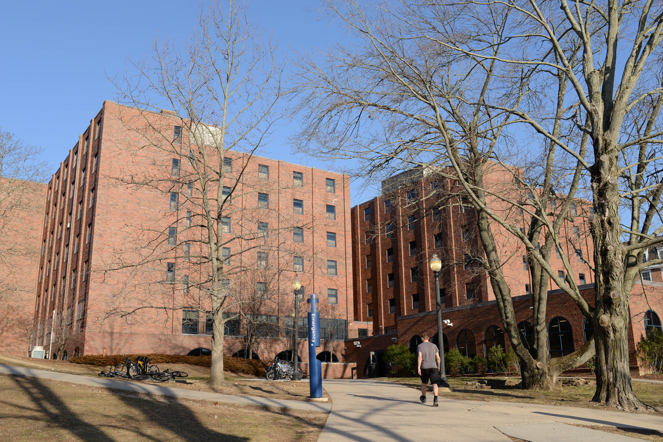 Students in residence halls across campus including Buckley Hall found discolored water in their their toilets and sinks on Wednesday mornings. Students have been plagued by water issues throughout the semester. (Jason Jiang/The Daily Campus)