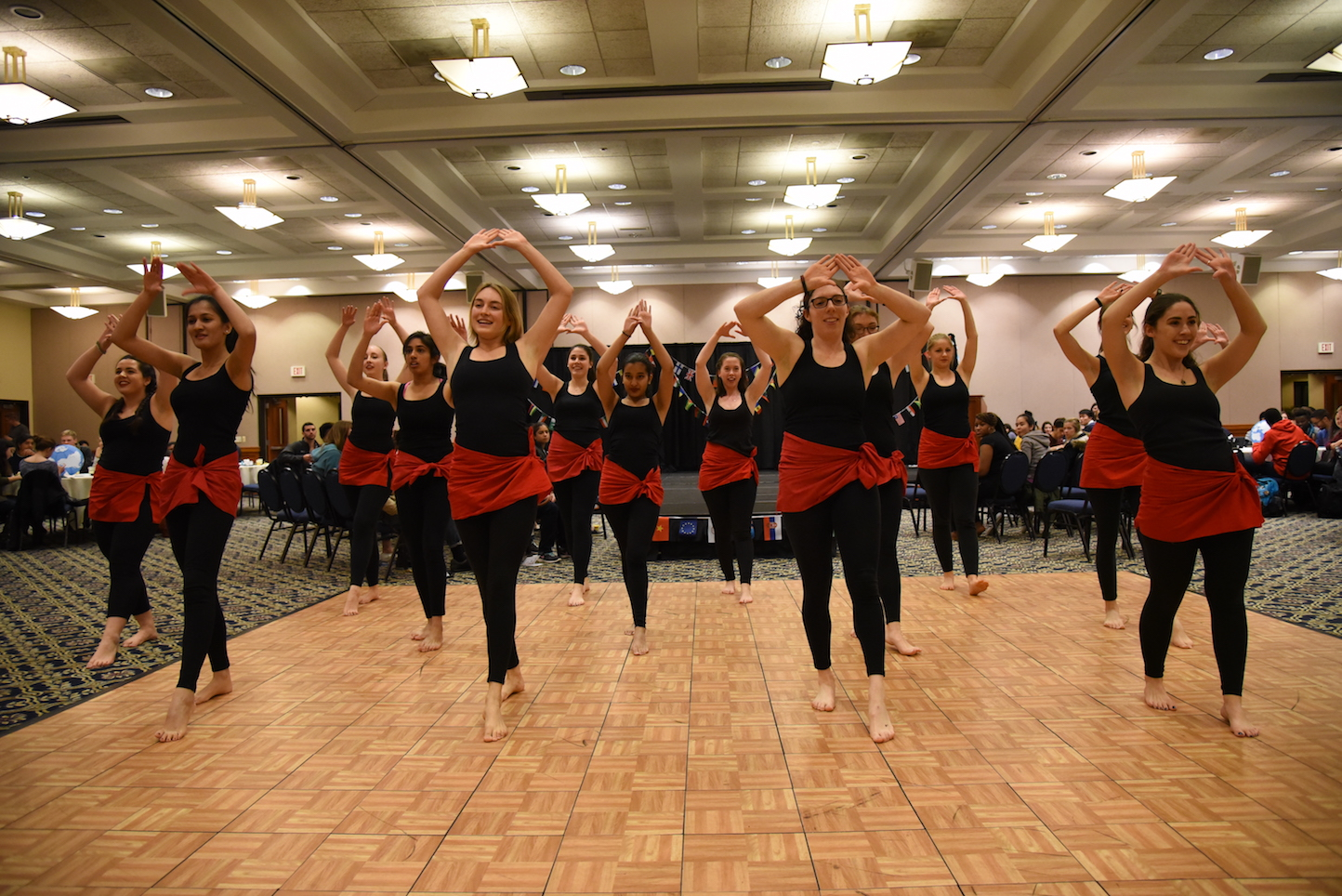 International Night offered free food from different cultures and dance performances in Rome Ballroom on Thursday night. Honors Council sponsored the event. (Charlotte Lao/The Daily Campus)