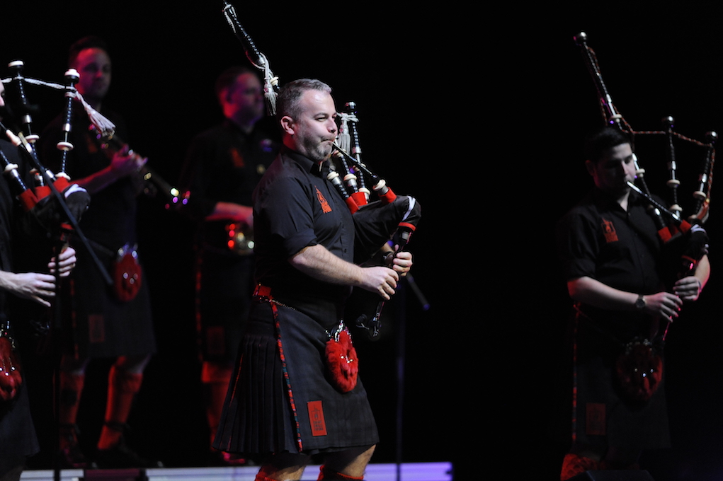 The Red Hot Chilli Pipers puts on a Scottish rock extravaganza in Jorgensen on November 10, 2016.They combine traditional pop music with rock elements which gives the music a modern spin. (Jason Jiang/The Daily Campus)