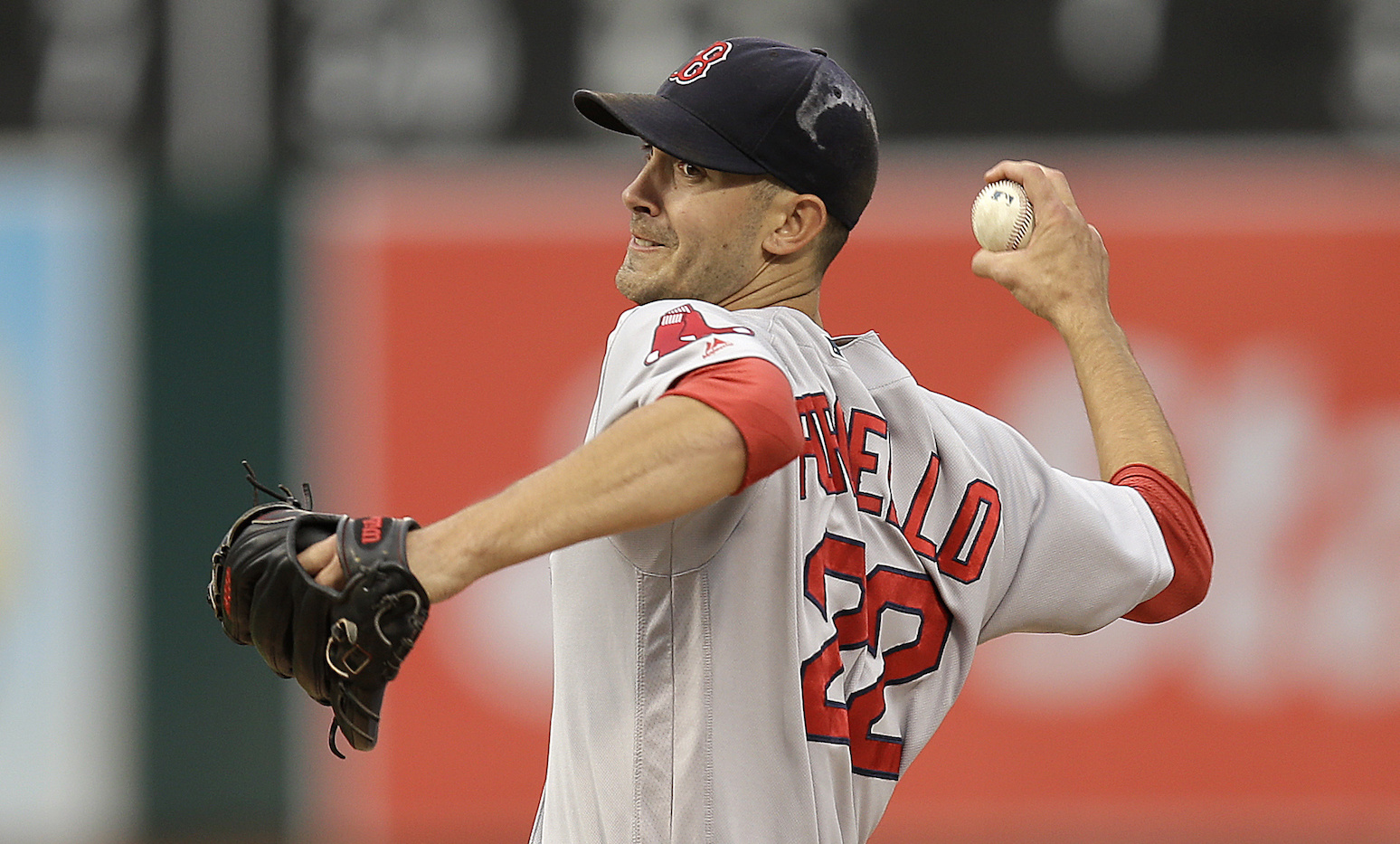 In this Sept. 3, 2016, file photo, Boston Red Sox pitcher Rick Porcello works against the Oakland Athletics in the first inning of a baseball game, in Oakland, Calif. Tight races are expected for the Cy Young awards, with Corey Kluber, Justin Verlander and Rick Porcello up for the American League honor.(Ben Margot/AP Photo)