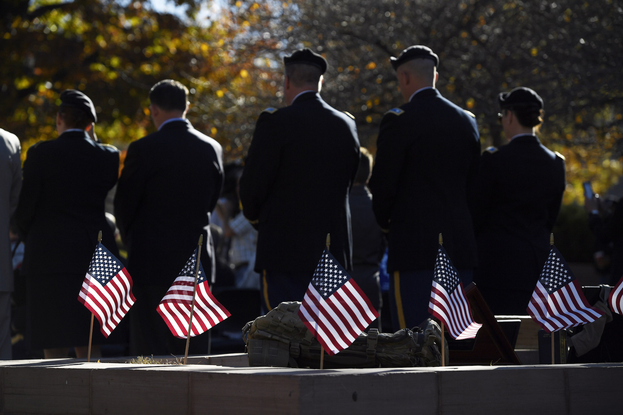 The Veterans Day parade on November 12th at Lincoln Park in Denver, CO. The U.S. Departments of Education, Defense and Veterans' Affairs created a partnership to help transition veterans back into civilian life. (Andy Cross/AP Exchange)