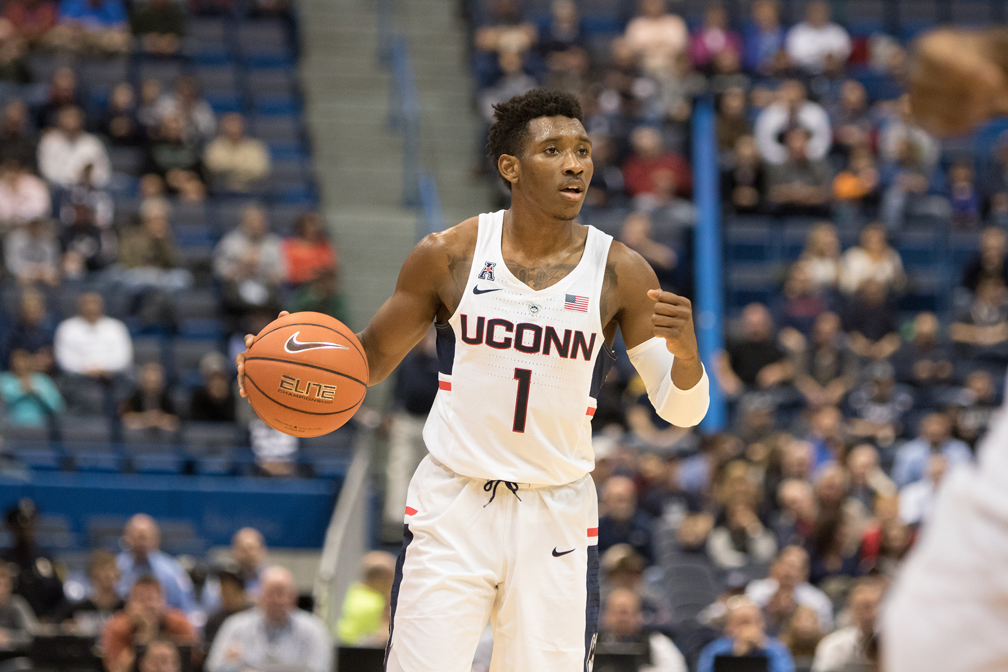 big sale aaa01 79cd8 Men's Basketball: Freshman Vital helps drag Huskies to win ...