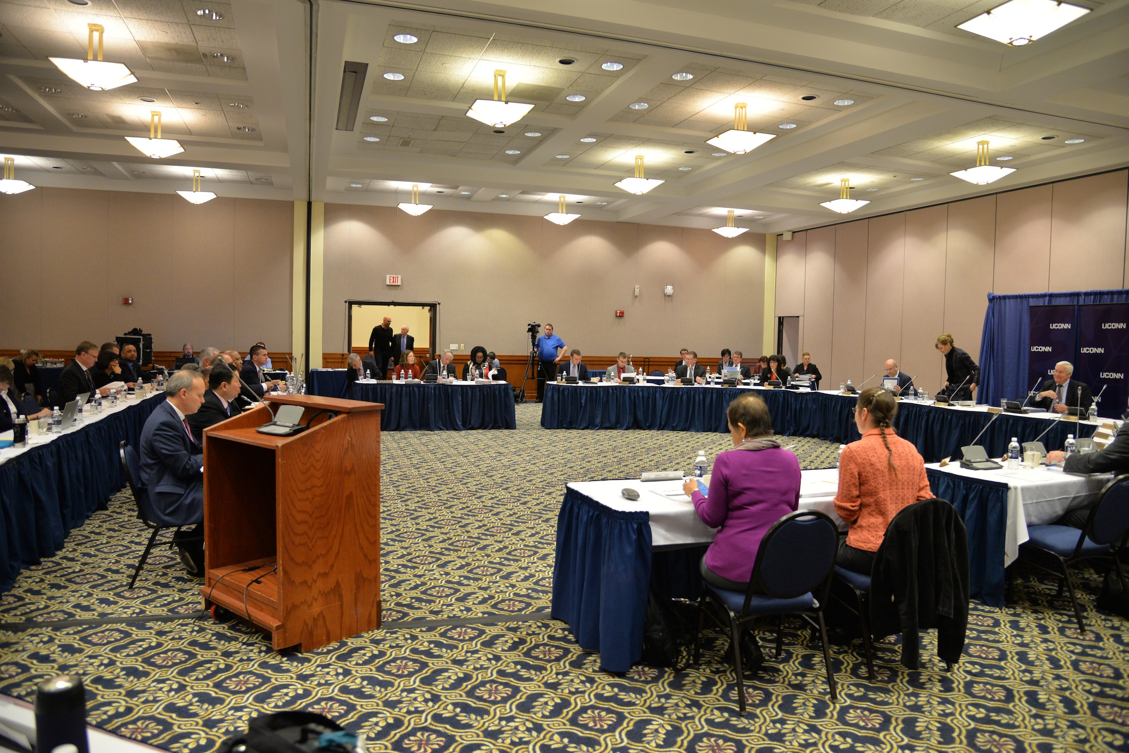 The Board of Trustees discusses current affairs of the university during their monthly meeting on Dec. 7, 2016 in Rome Ballroom. In their most recent meeting the board voted to raise tuition. (Amar Batra/The Daily Campus)