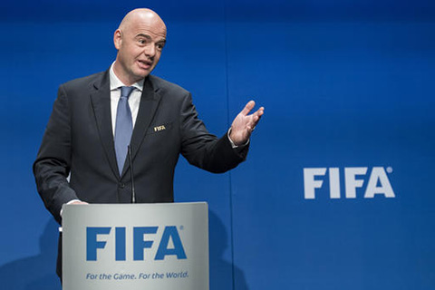Gianni Infantino,FIFA President speaks after the FIFA Council meeting at the Home of FIFA in Zurich, Switzerland, Tuesday, Jan. 10, 2017.FIFA will expand the World Cup to 48 teams, adding 16 extra nations to the 2026 tournament which is likely to be held in North America. (Ennio Leanza/AP)