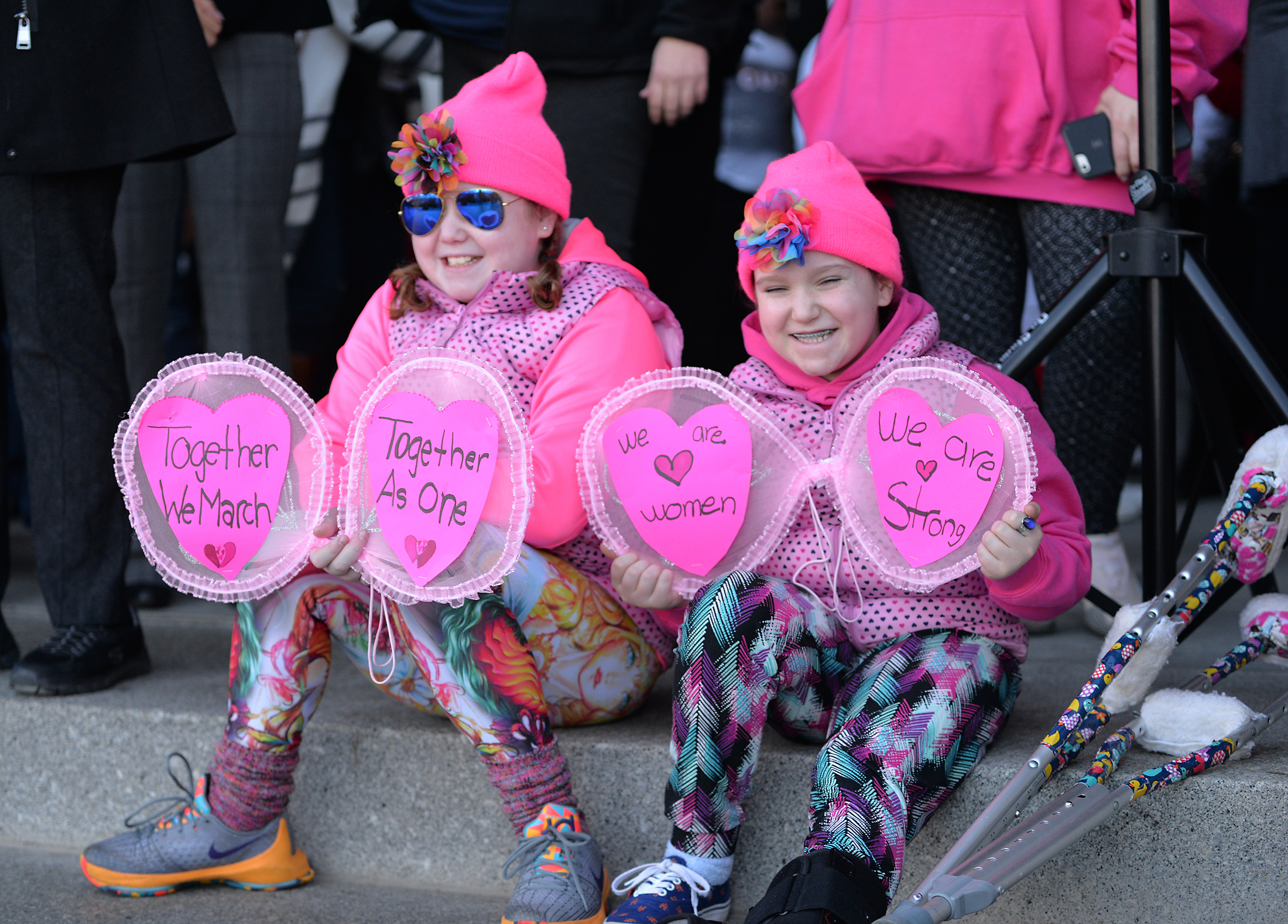 "Thousands of Connecticut citizens and their families marched on the State Capitol during the ""Women's March on Hartford, CT: In Solidarity with Washington"" on Saturday, Jan. 21, 2016. (Amar Batra/The Daily Campus)"