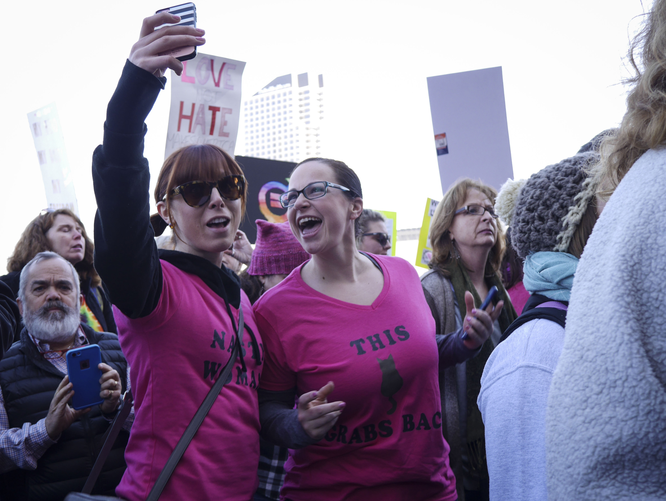 "Thousands of Connecticut citizens marched on the State Capitol to protest Trump's stance on women's rights during the ""Women's March on Hartford, CT: In Solidarity with Washington"" on Saturday, Jan. 21, 2016. (Bailey Wright/The Daily Campus)"