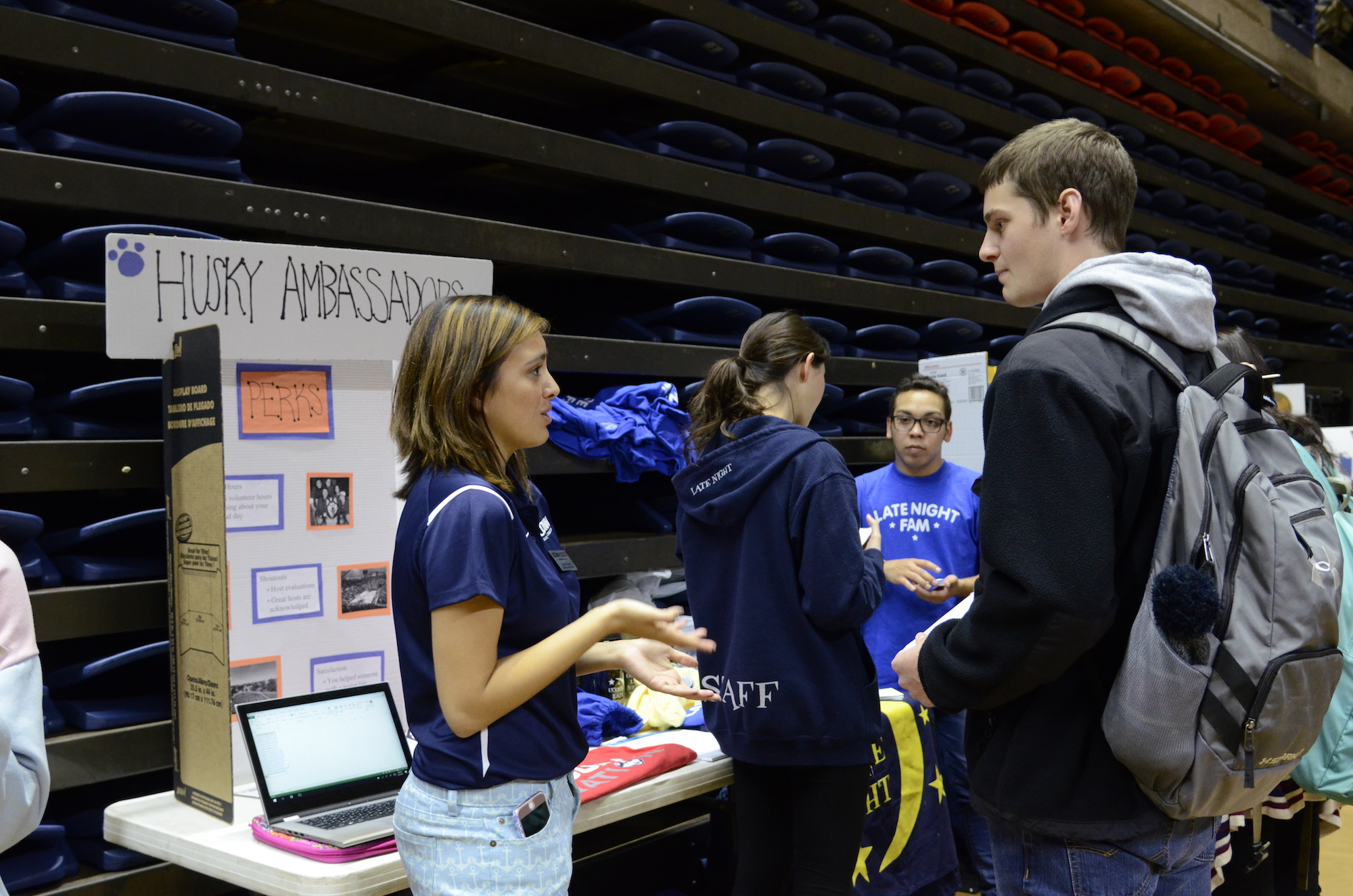 Students went to the Involvement Fair in Gampel to sign up and learn about all the organizations that are offered on campus. The fair ran from 2-7 and there were over 350 programs and organizations there. (Charlotte Lao/The Daily Campus)