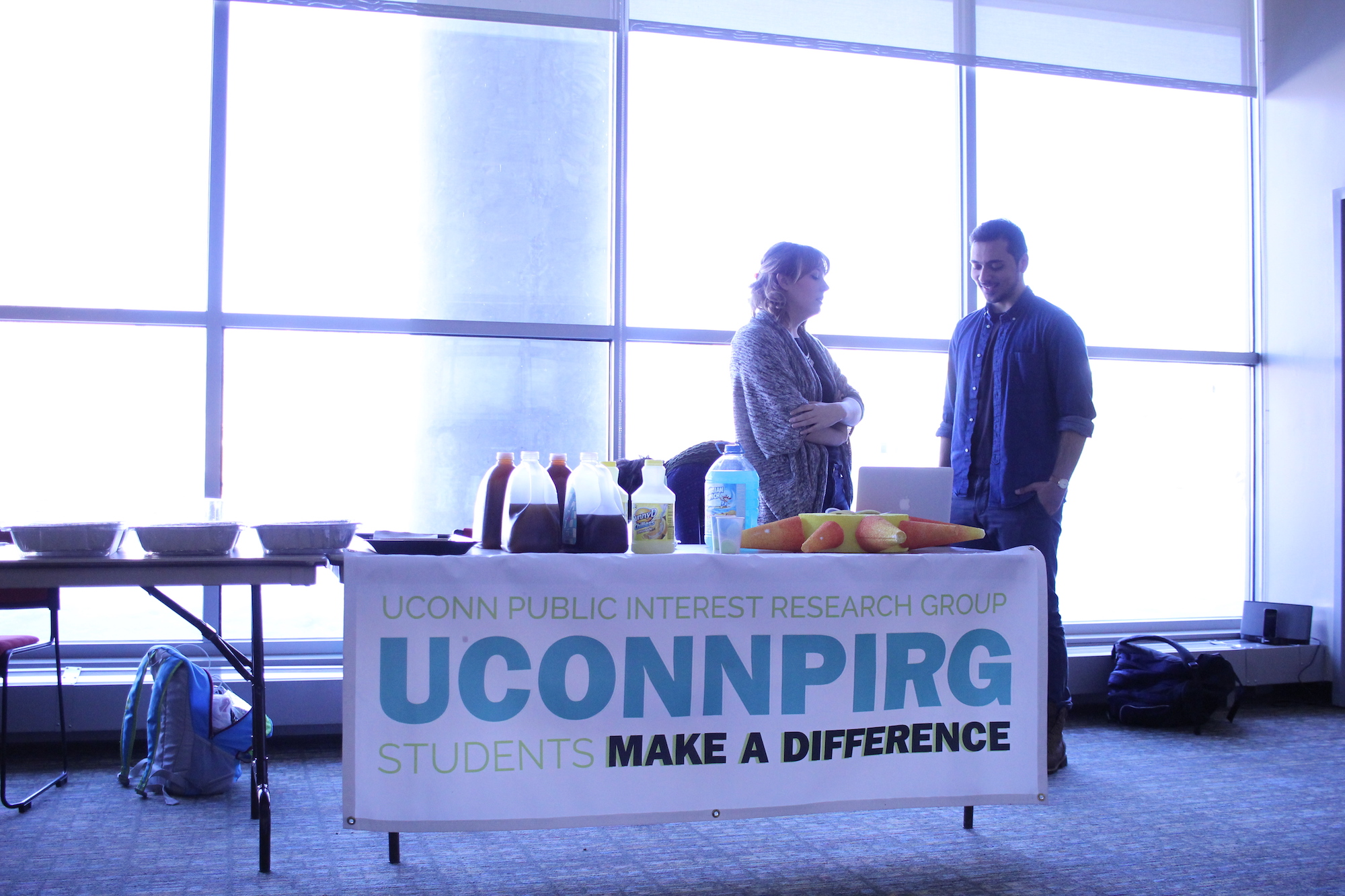 Students gathered at the Student Union on Wednesday night to hear about student activist group UConnPRIG's upcoming plans and to get involved. (Jackson Haigis/The Daily Campus)