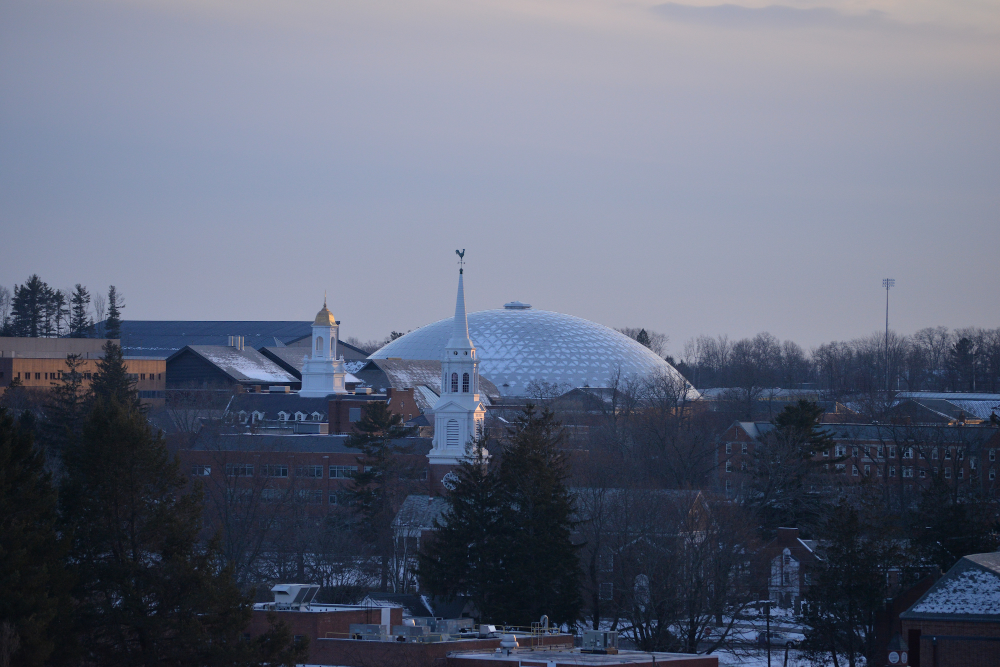 An unfamiliar view to the students of UConn who walk in between the buildings of campus on a daily basis. For seniors graduating this spring, this is their last semester to enjoy all that UConn has to offer them.(Amar Batra/The Daily Campus)