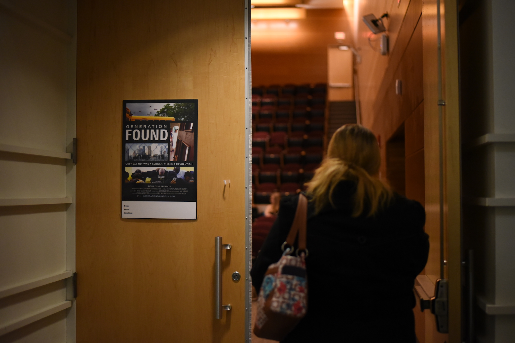 """The UConn Recovery Community presented """"Generation Found"""" about addiction for adolescence in Laurel Hall on Feb. 15. The film focuses on various adolescent recovery groups in Houston, Texas. (Charlotte Lao/The Daily Campus)"""