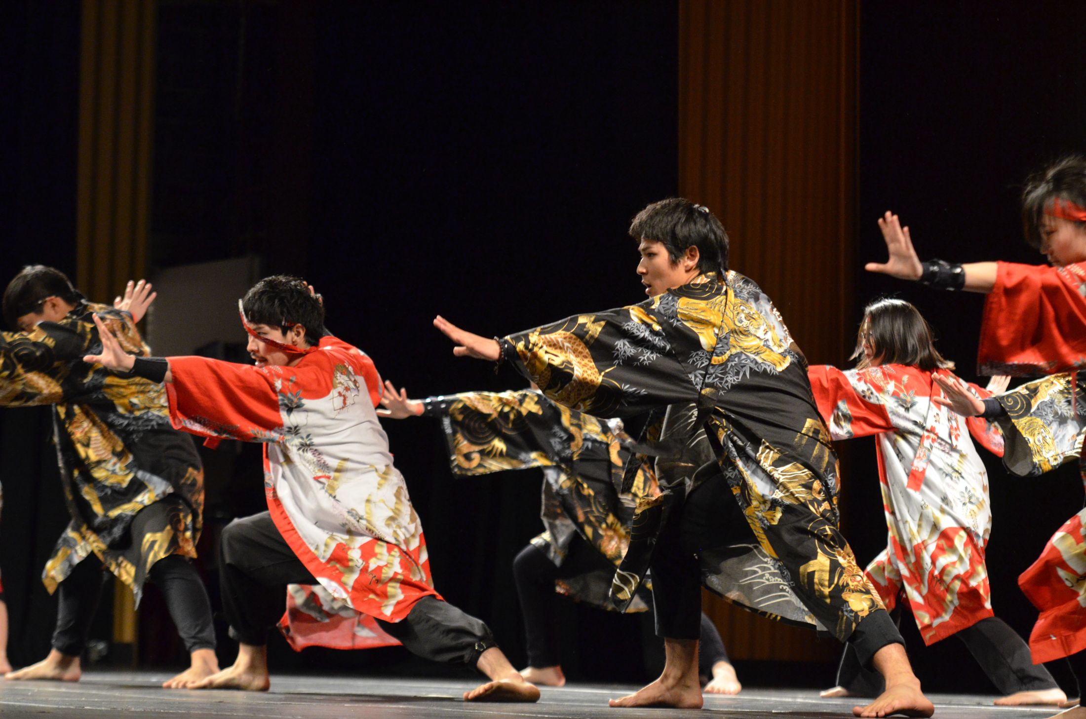 The Japanese Student Association shows off a traditional dance during Asian Nite 2017 on Saturday evening at the Jorgensen Center for the Performing Arts. (Akshara Thejaswi/The Daily Campus)