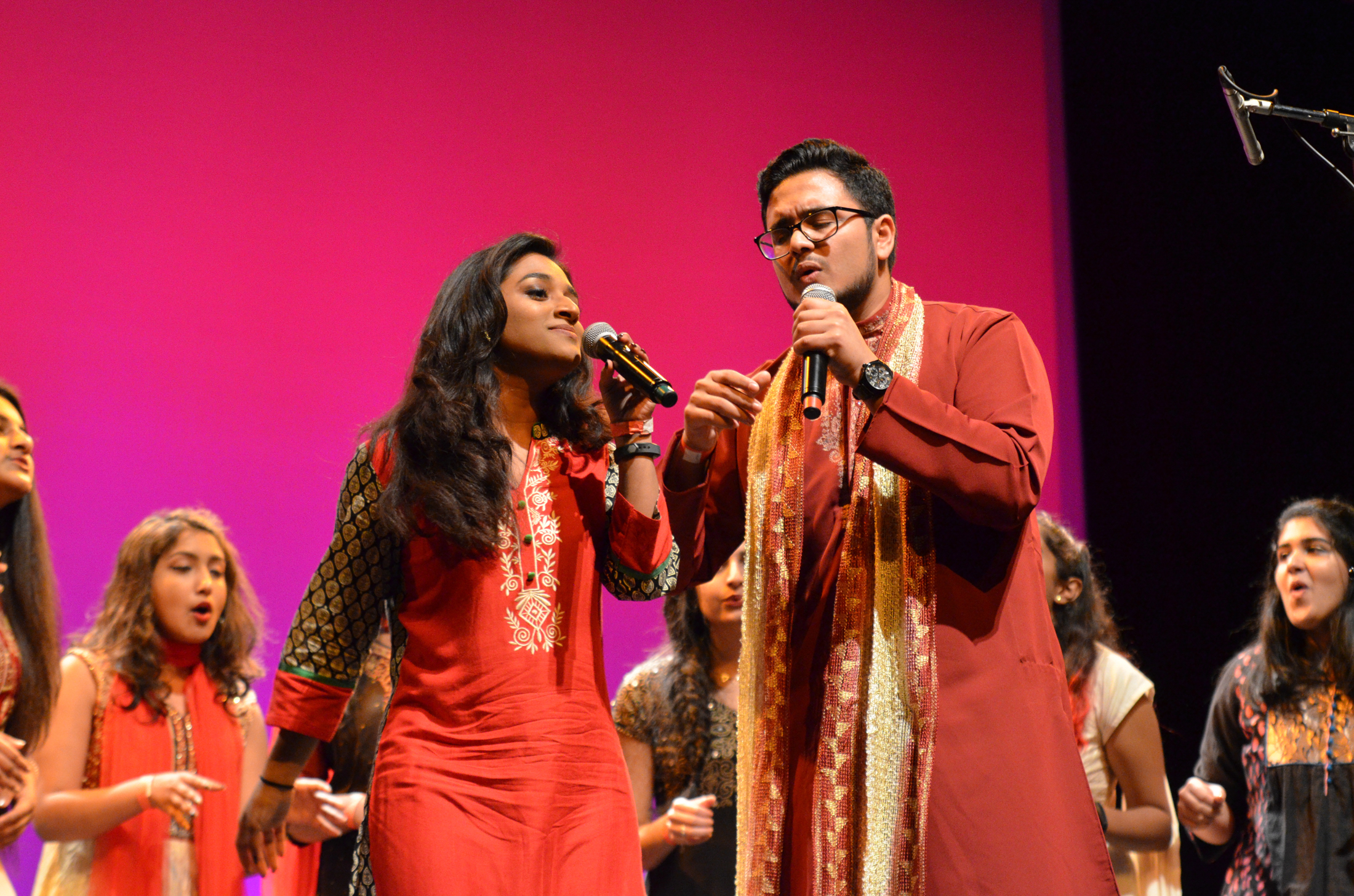 Husky Hungama participates in Asian Nite 2017 on Saturday evening at the Jorgensen Center for the Performing Arts. (Akshara Thejaswi/The Daily Campus)