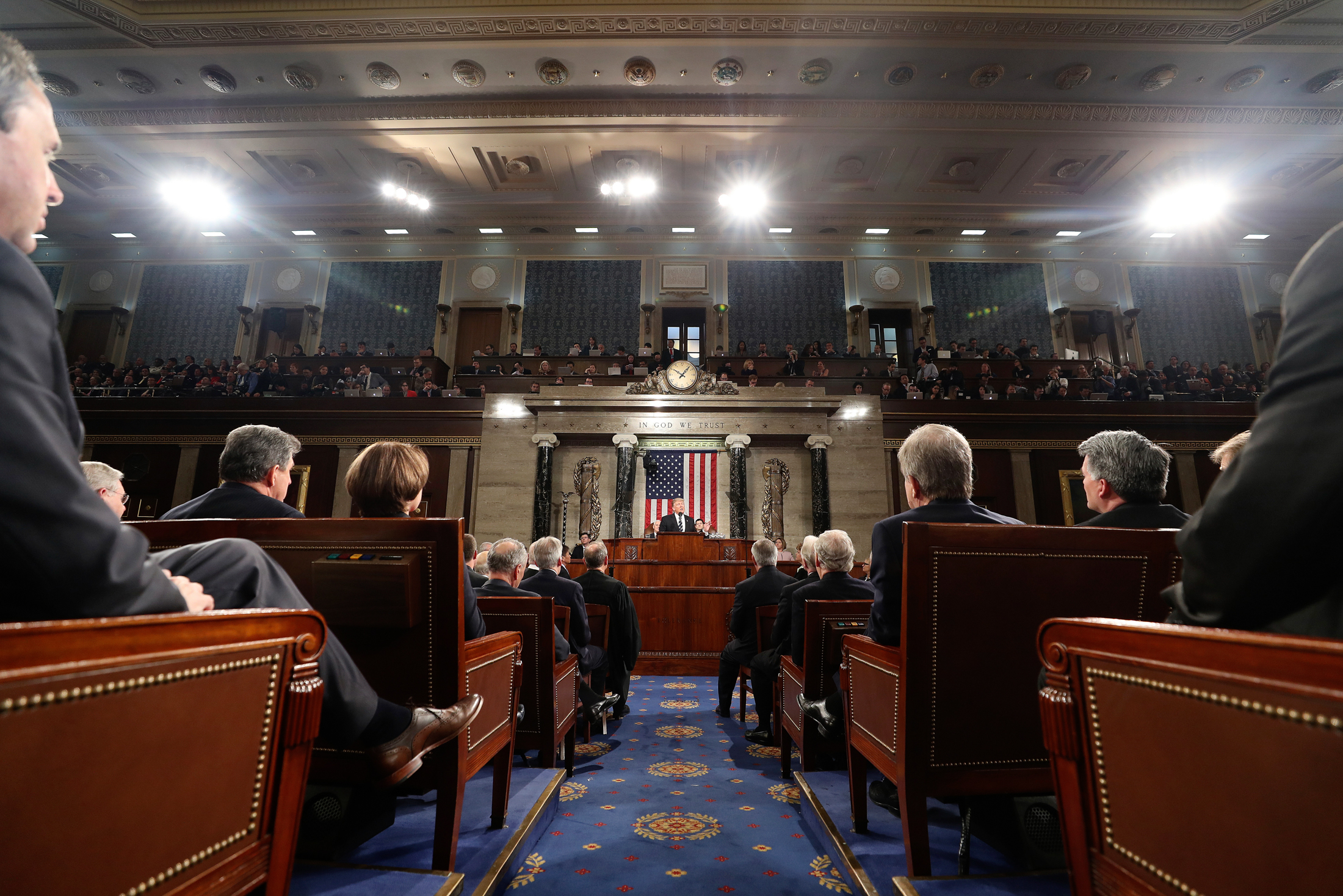 President Donald Trump speaks to a joint session of Congress on Capitol Hill in Washington, Tuesday, Feb. 28, 2017. (Jim Lo Scalzo/AP)