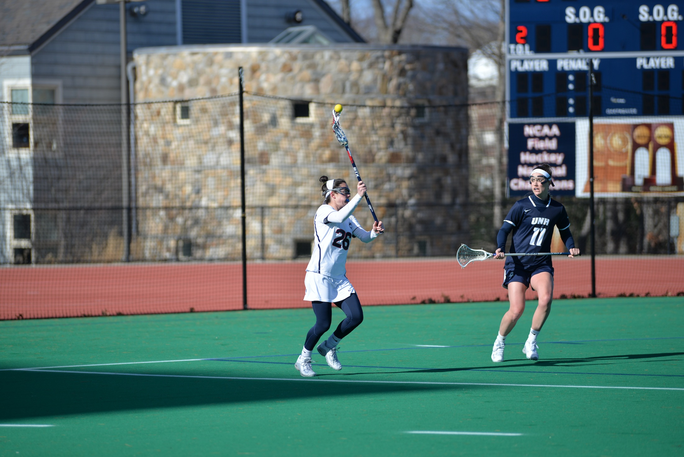 The women's lacrosse team defeats UNH 13-9 on Sunday afternoon at the Sherman Family Sports Complex. UConn held the lead for the entire game. (Amar Batra/The Daily Campus)