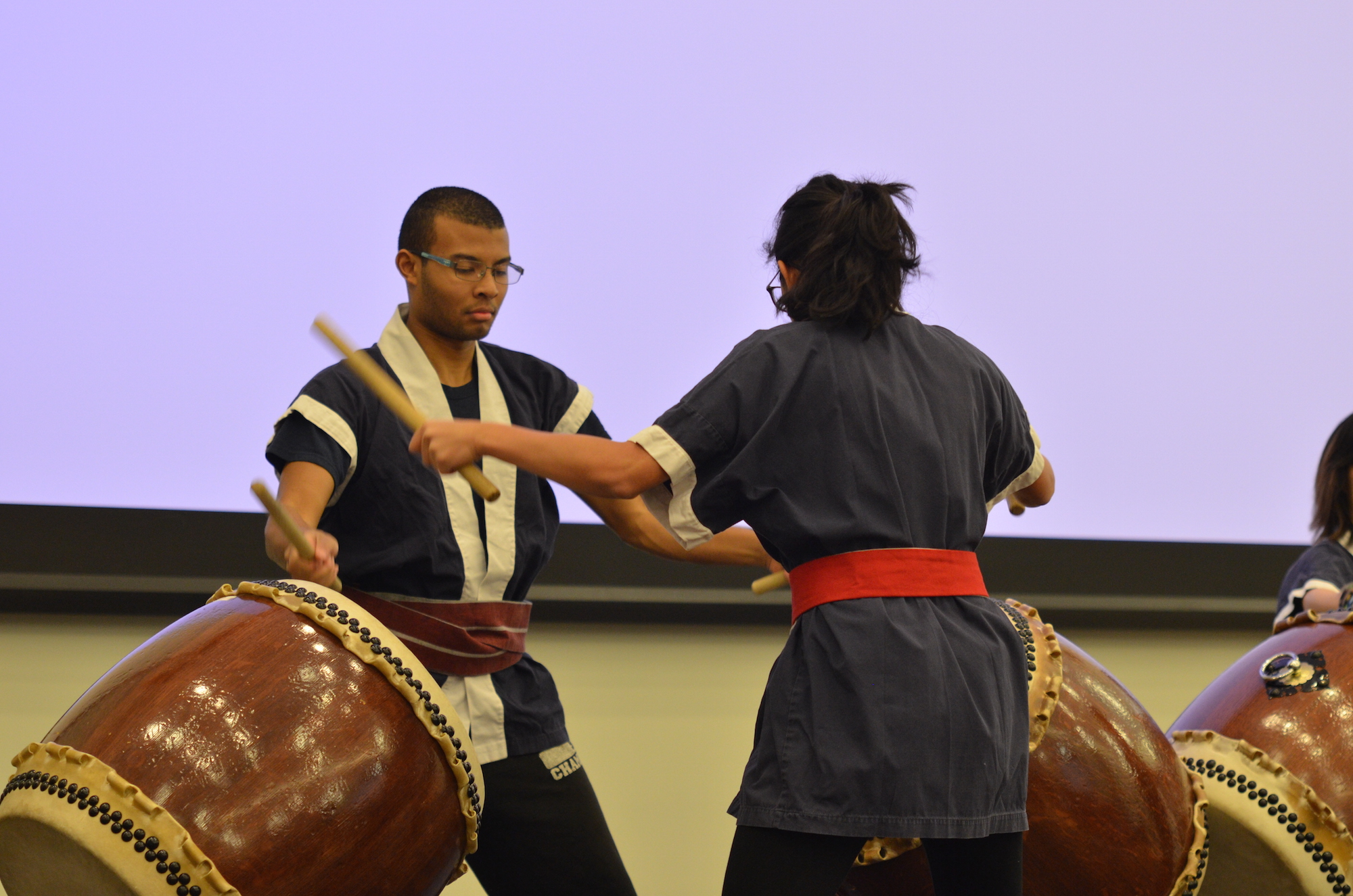 UConn Taiko blows the crowd away with their powerful drum performances. Various cultural groups at UConn gathered at the Studen Union Ballroom on Saturday, March 25, to share aspects of each of their cultures for World Fest. (Akshara Thejaswi/The Daily Campus)