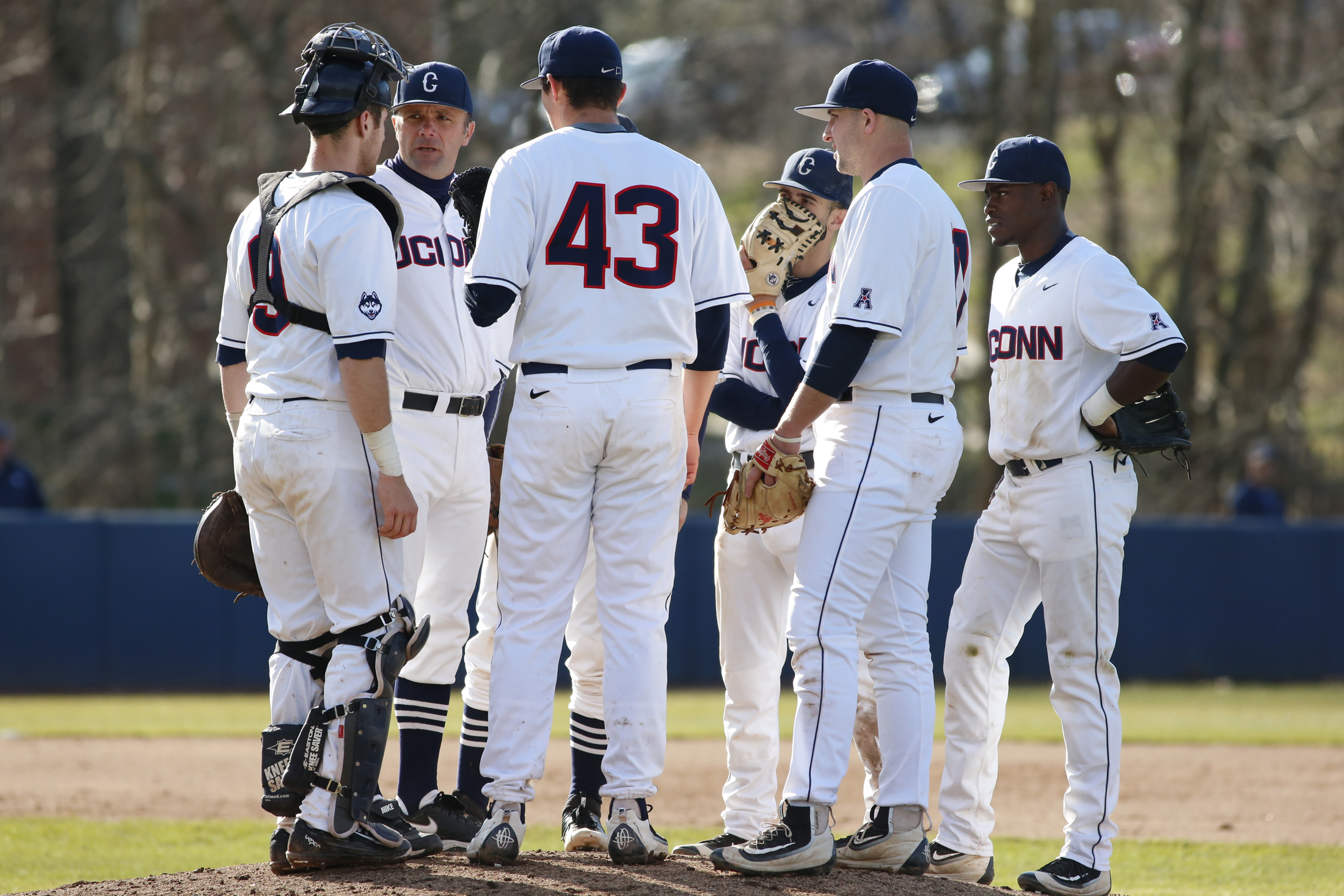 The Huskies defeat the Fairfield College Stags 2-1 April 12, 2016 at J.O. Christian Field. (Tyler Benton/The Daily Campus)