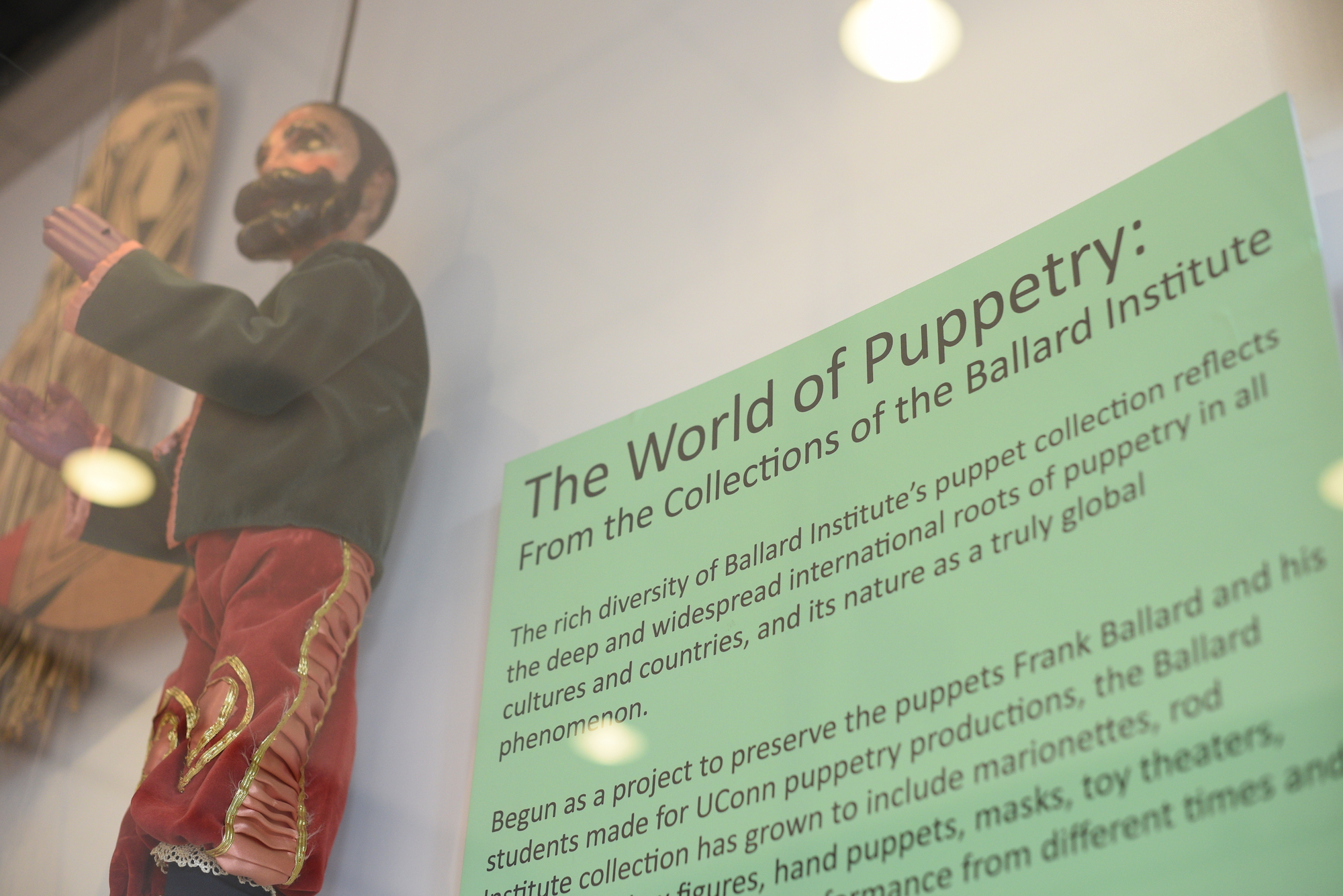 """The school of fine art added a new general education course for the fall semester called """"World of Puppetry"""". It will satisfy the general education requirements for Content Areas One and Four. (Zhelun Lang/The Daily Campus)"""