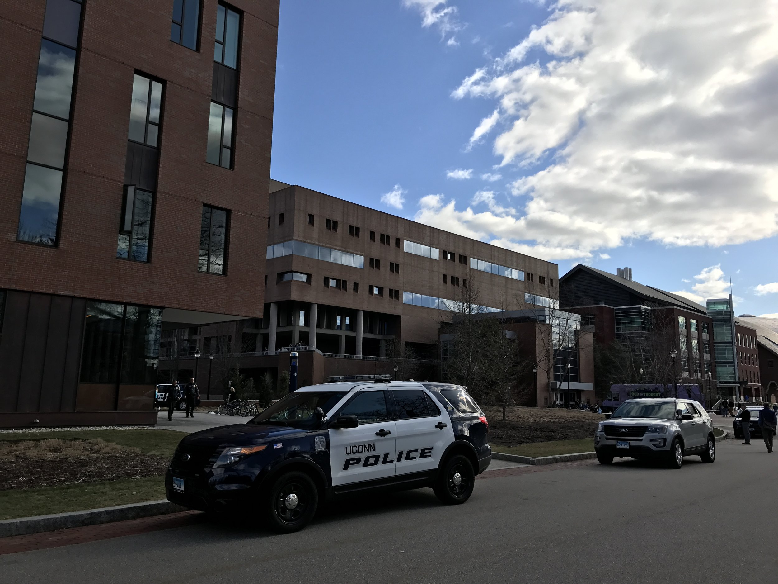 UConn police said they were called after someone over heard a concerning conversation. (Owen Bonaventura/The Daily Campus)