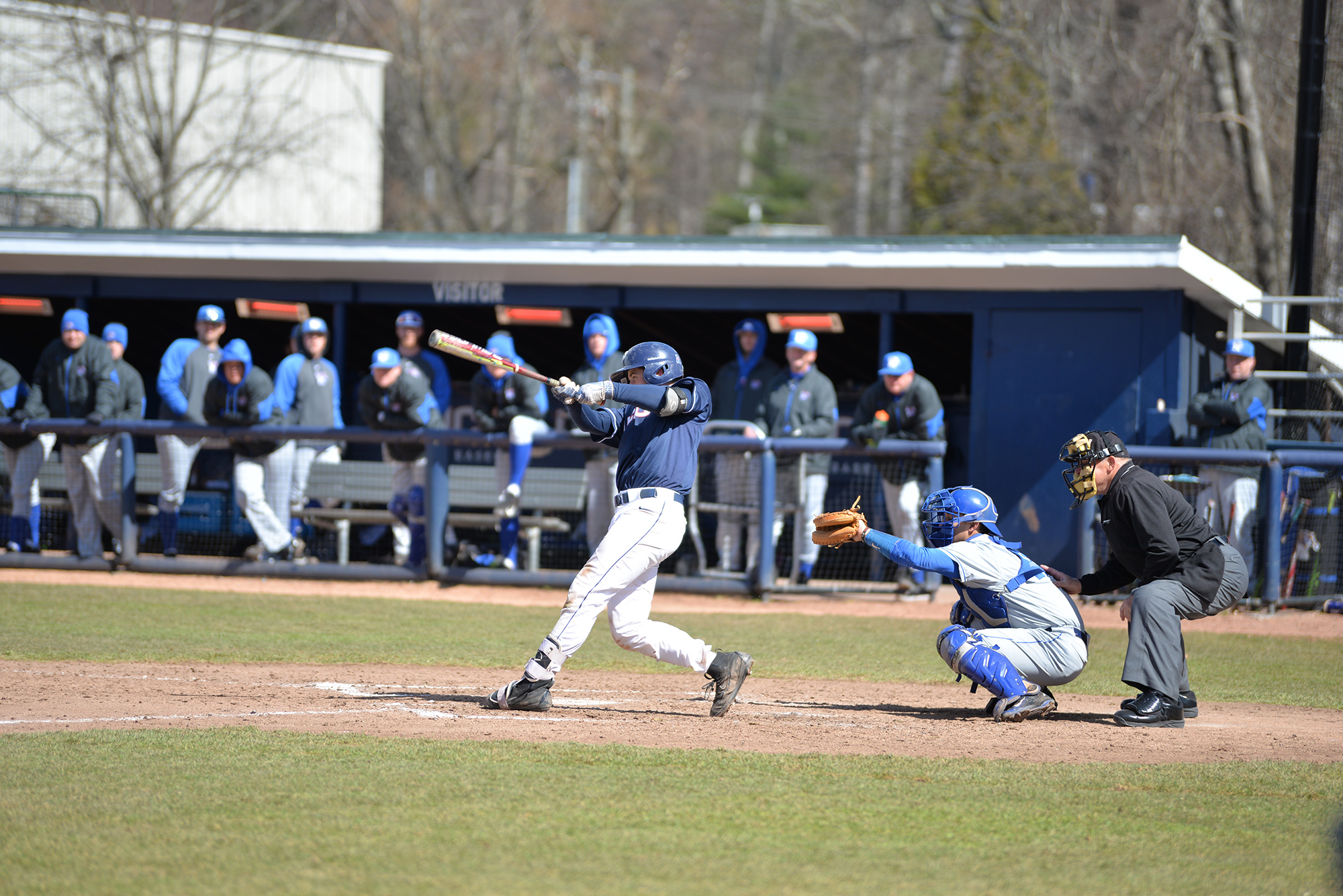 UConn defeats Memphis 10-7 at J.O. Christian Field on Saturday, April 8, 2017. The huskies swept the series following a win over memphis on Sunday. (Amar Batra/ The Daily Campus)