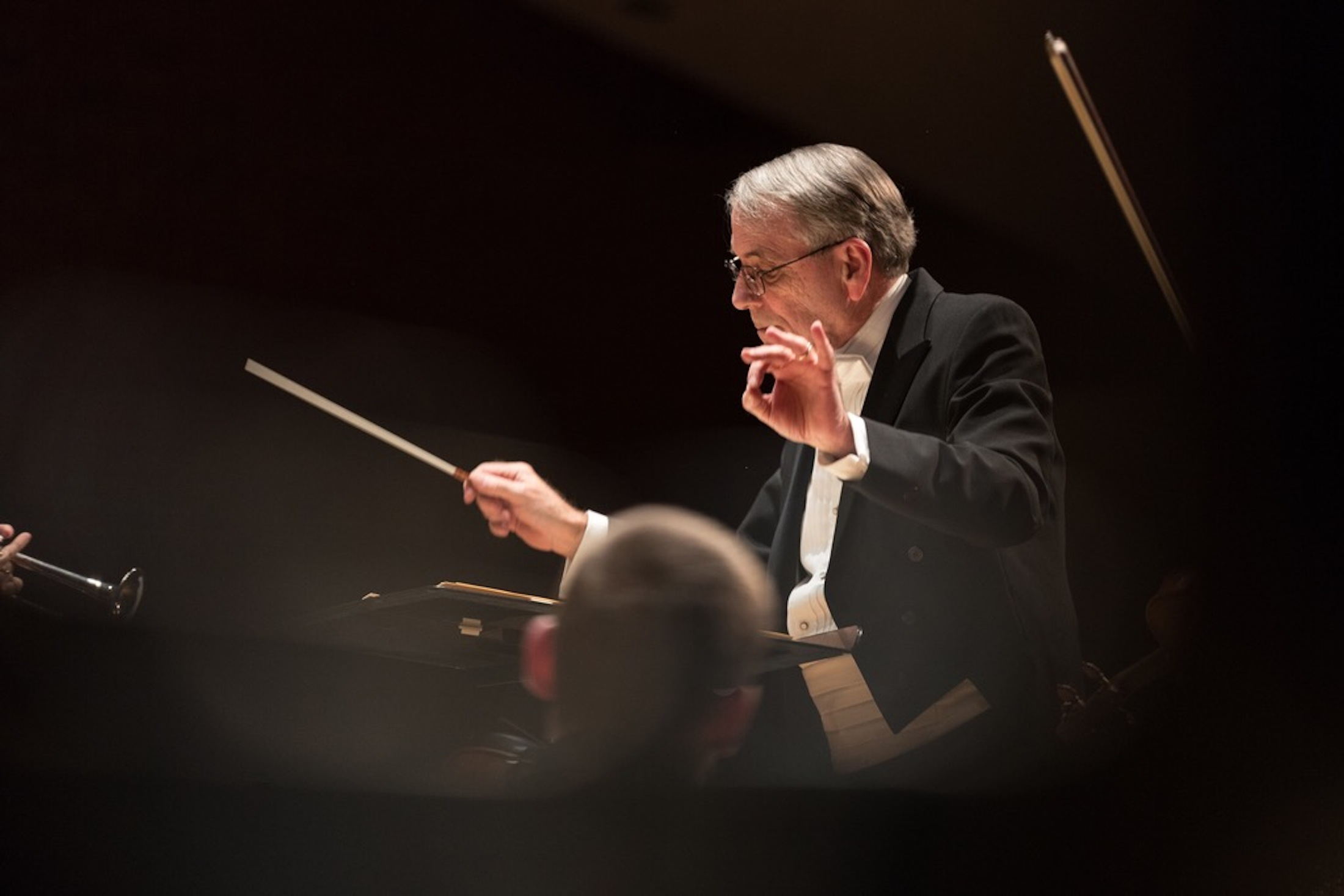 The UConn Wind Ensemble performs compositions by David Dzubay for the Raymond and Beverly Sackler Music Compositions Prize Concert held in Von der Mehden Recital Hall in Storrs, CT on Thursday, March 2, 2017. Dzubay won the Sackler Music Prize for his compositions in 2015. (Owen Bonaventura/The Daily Campus)