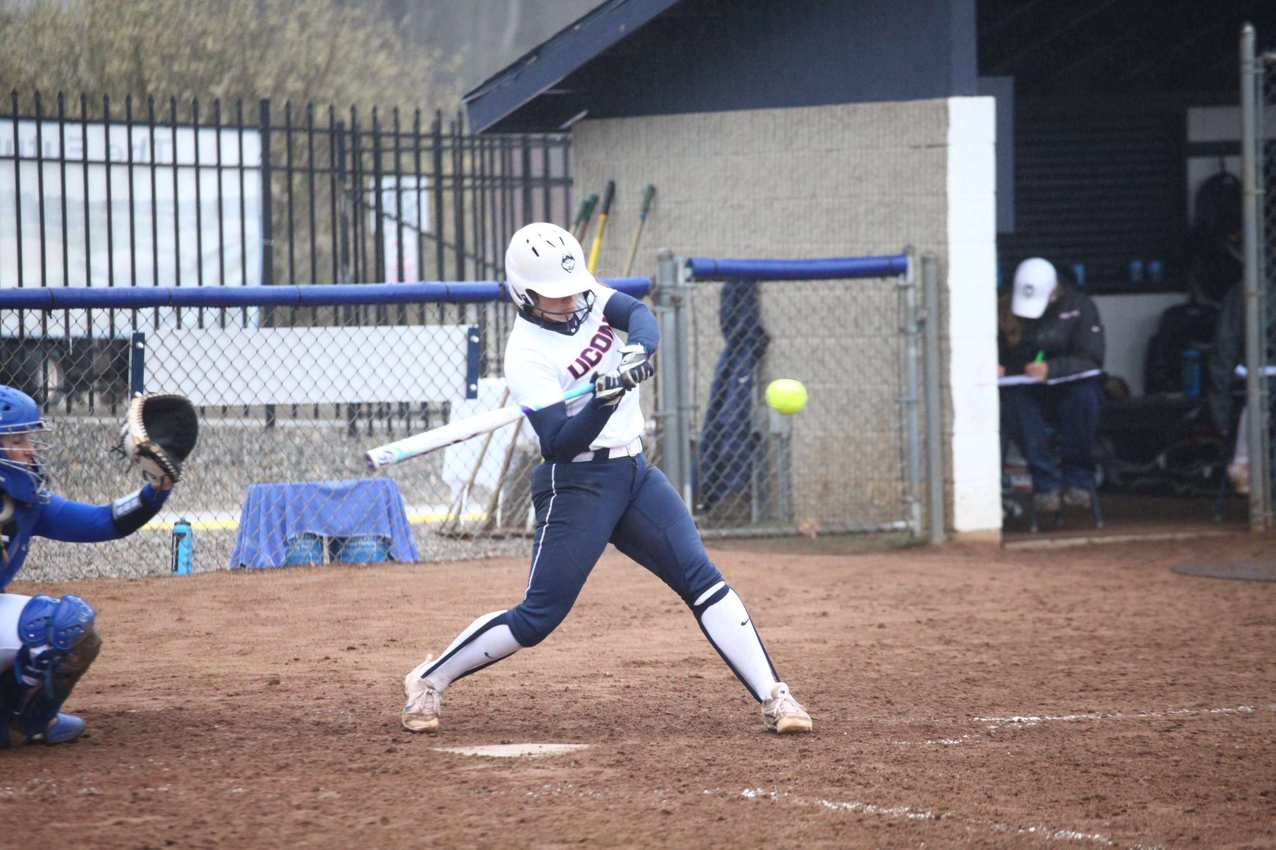 The Huskies took on Tulsa Friday afternoon, April 21, 2017, under some light rain at Burrill Family Field in Storrs, CT. The Huskies suffered a defeat with Tulsa winning 3-1. (Tyler Benton/The Daily Campus)