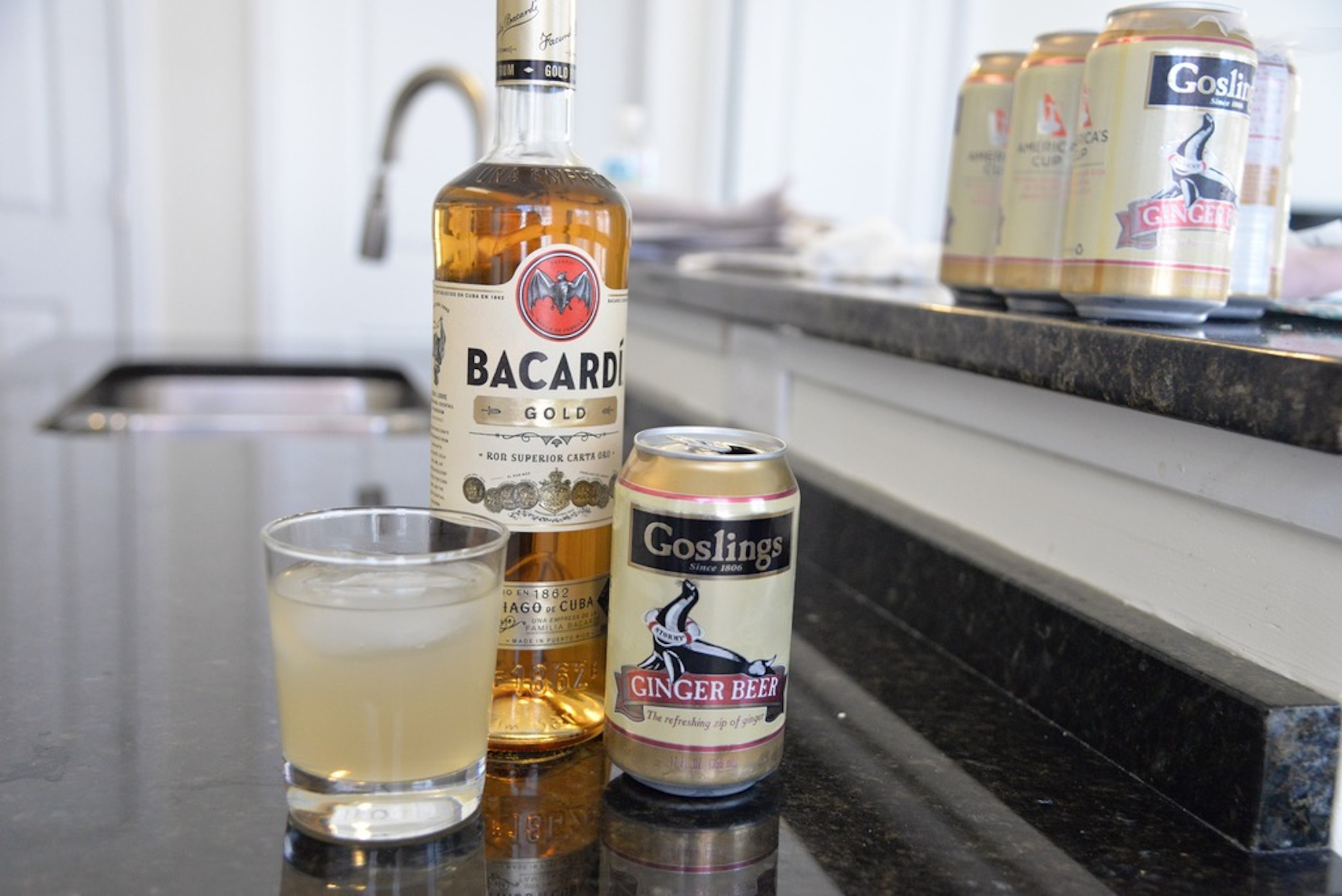 For this week's drink of the week Lauren and Amar introduce the Dark Stormy; a delicious combination of rum and ginger beer.(Amar Batra/Daily Campus)