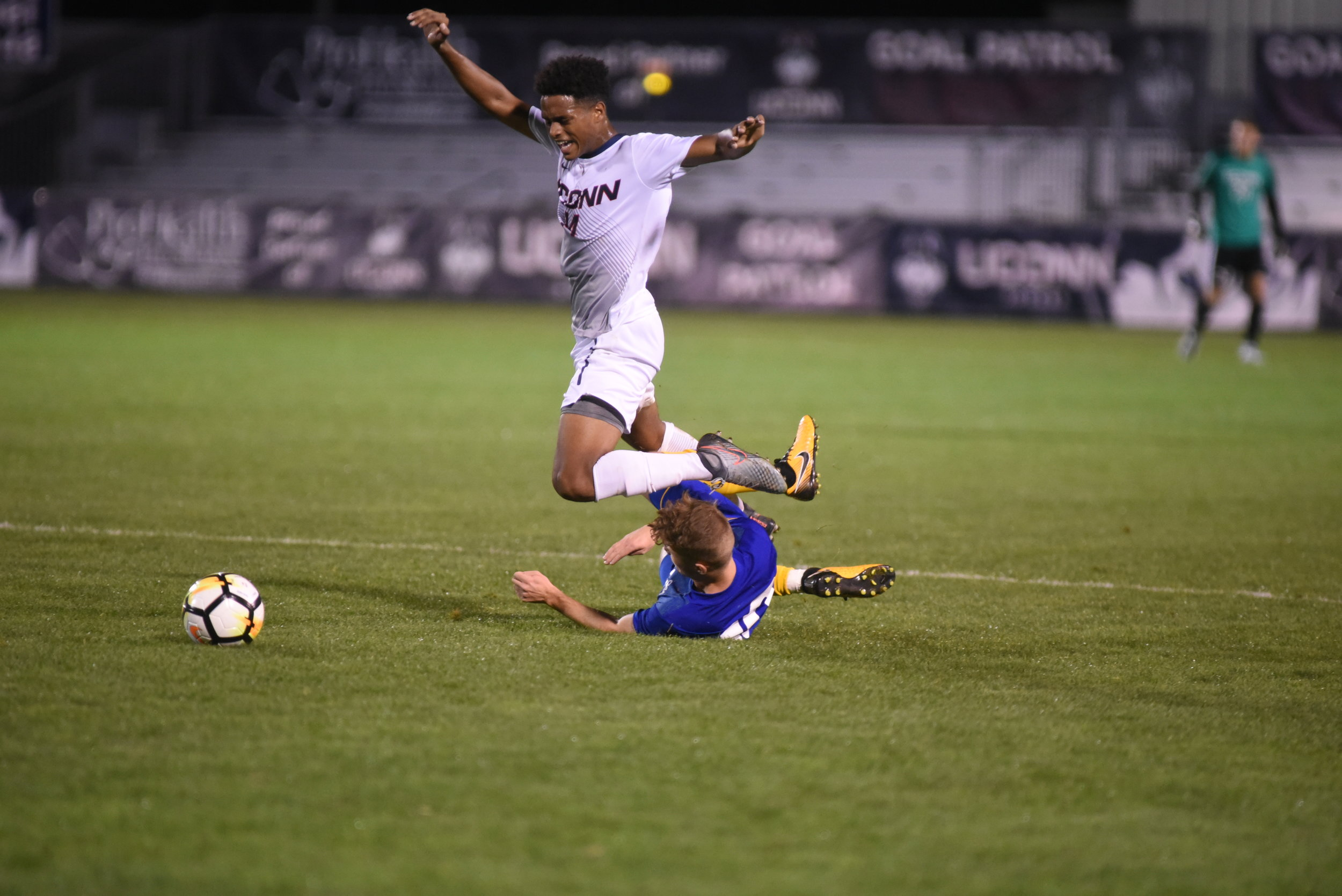 The Men's Soccer team won against Hofstra on Tuesday, September 12. Their next home game is Saturday against North Florida. (The Daily Campus/Charlotte Lao)