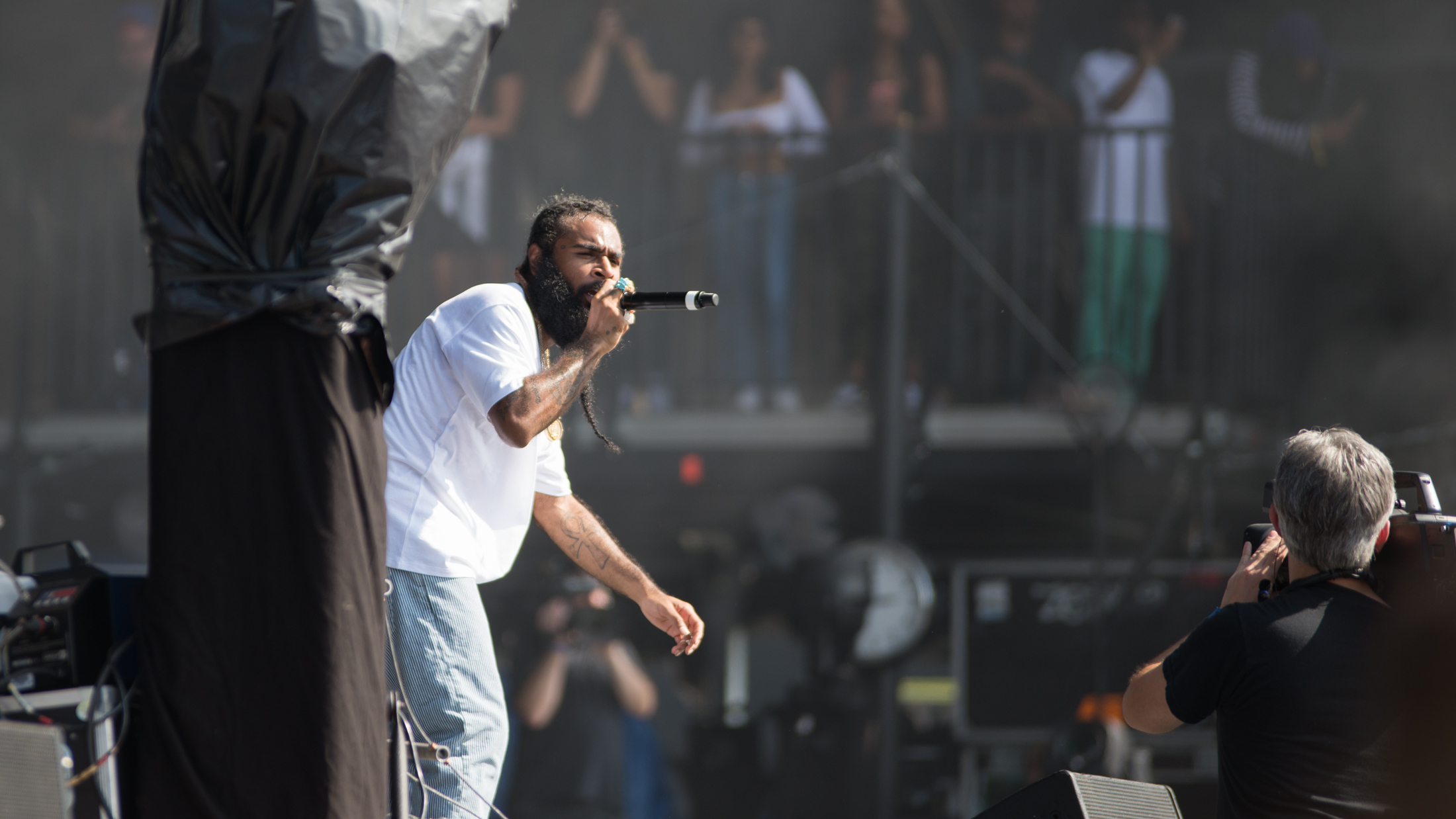 Zombie Juice of Flatbush Zombies raps on day two of The Meadows Music and Art Festival at Citi Field on Sat. Sept. 16, 2017. (Amar Batra/The Daily Campus)