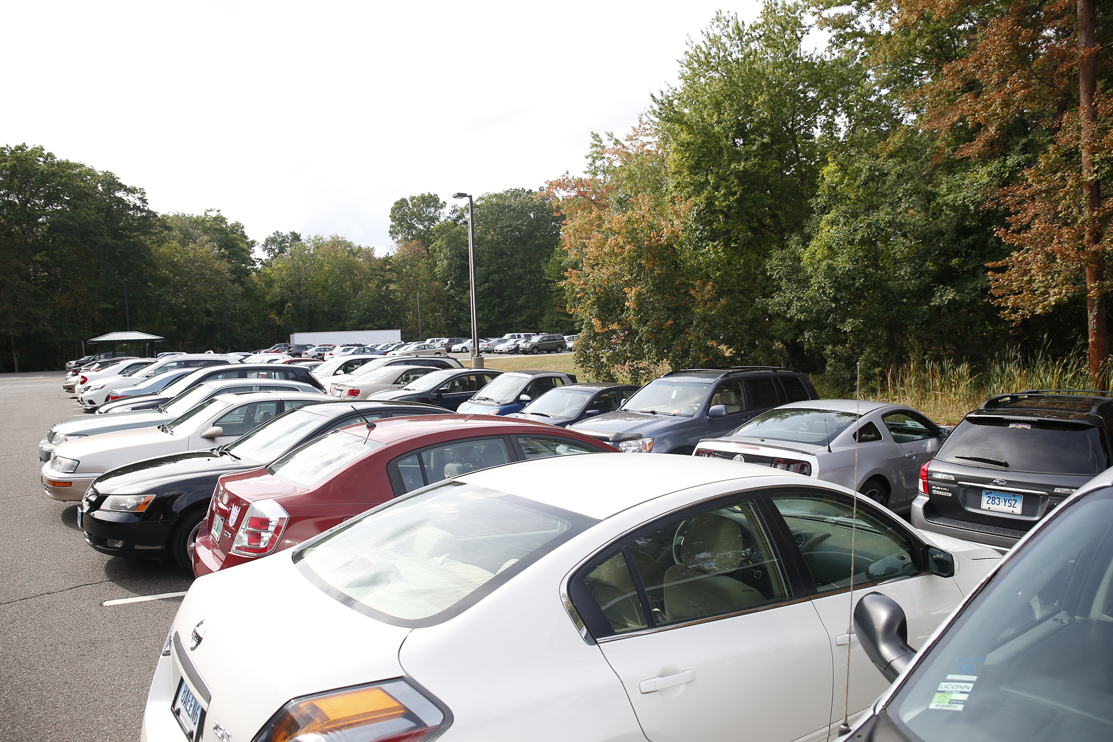 Pictures of I Lot show the commuter parking spots full during the day.  Rumor has it UConn might have oversold the parking passes. (File photo/The Daily Campus)